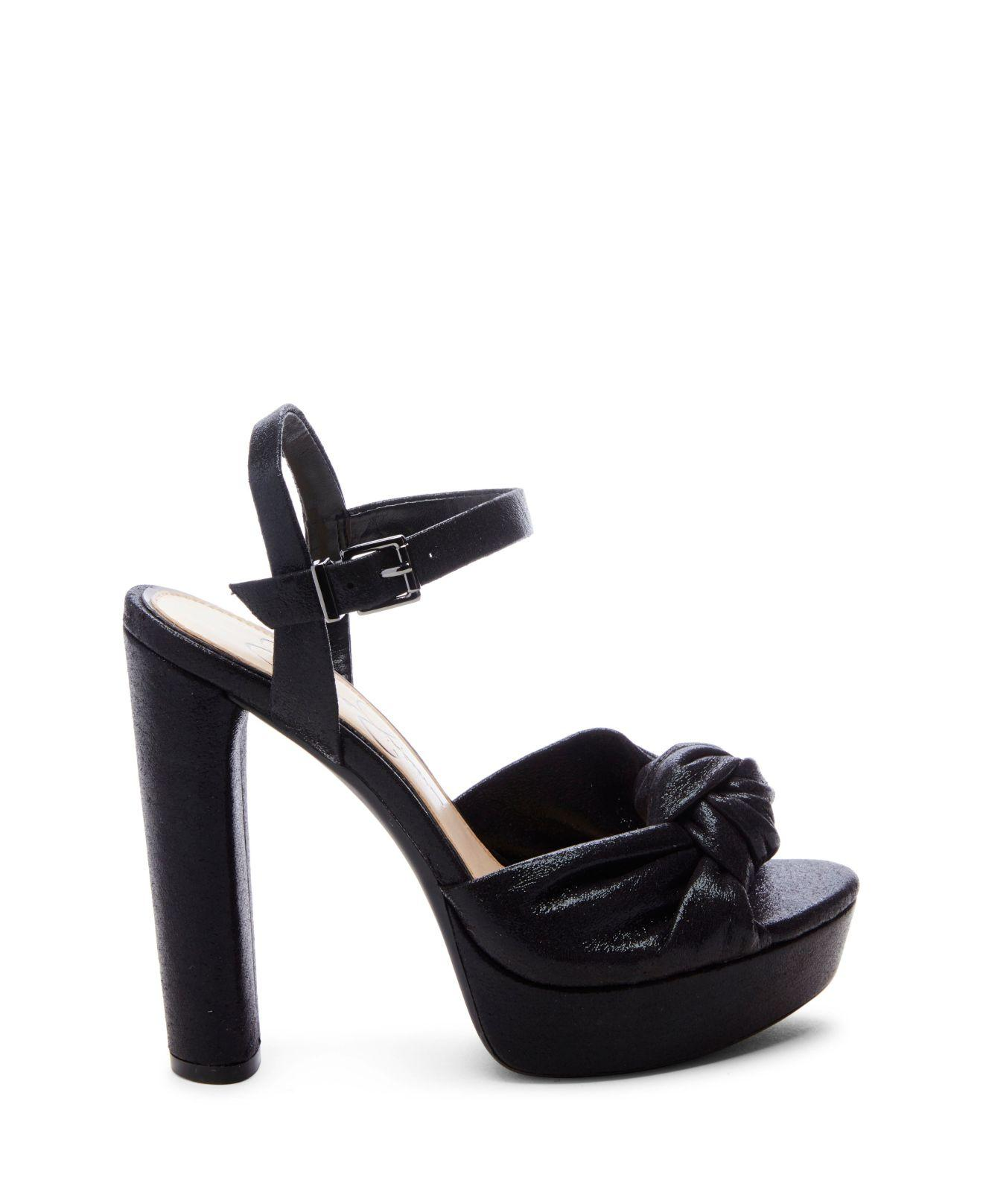493d49aab92 Lyst - Jessica Simpson Ivrey Knot Platform Sandals in Black - Save 1%