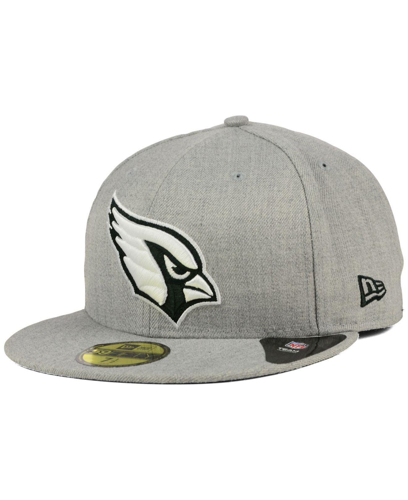 9f9032fa1 Lyst - KTZ Arizona Cardinals Heather Black White 59fifty Cap in Gray ...
