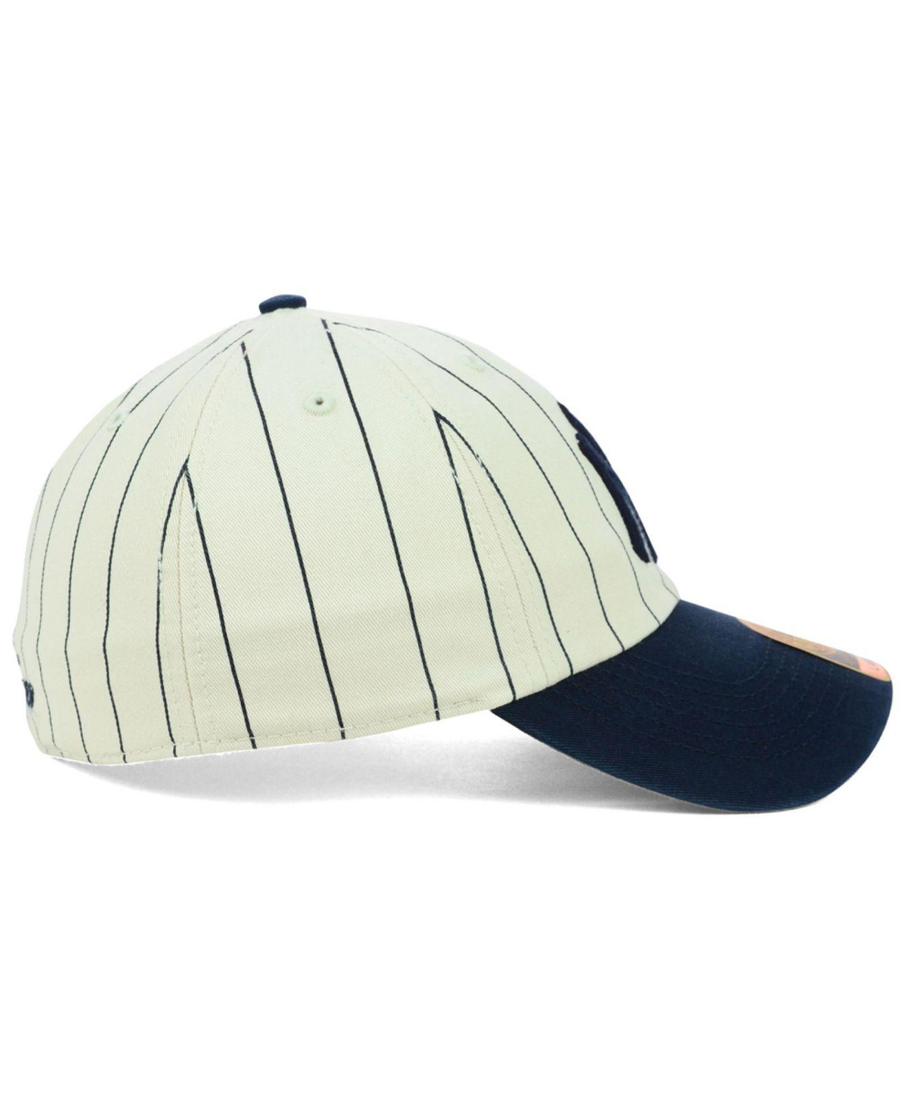 1bca80c2266f5 47 Brand - Blue New York Yankees Pinstripe Franchise Cap for Men - Lyst.  View fullscreen