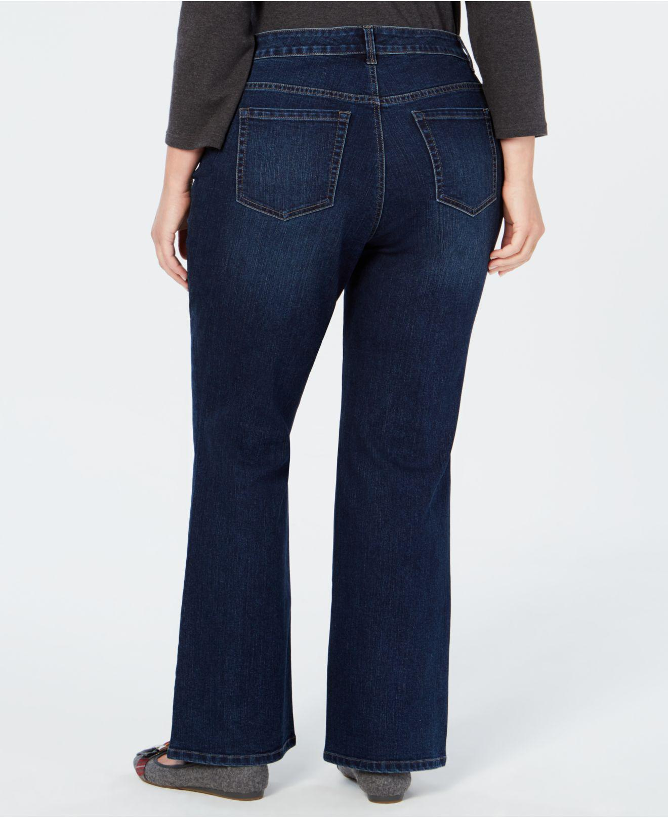 b6a75590a14 Lyst - Charter Club Plus Size Prescott Tummy-control Bootcut Jeans ...