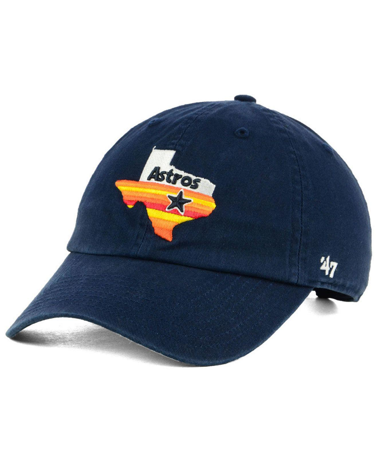 cb26f7f2b0ad33 Lyst - 47 Brand Houston Astros Core Clean Up Cap in Blue for Men