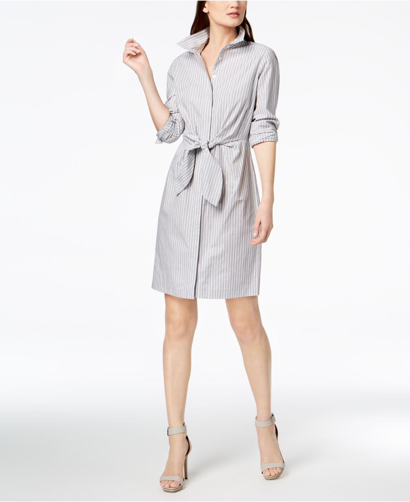 Striped cotton shirt dress CALVIN KLEIN 205W39NYC 30VVVp9p