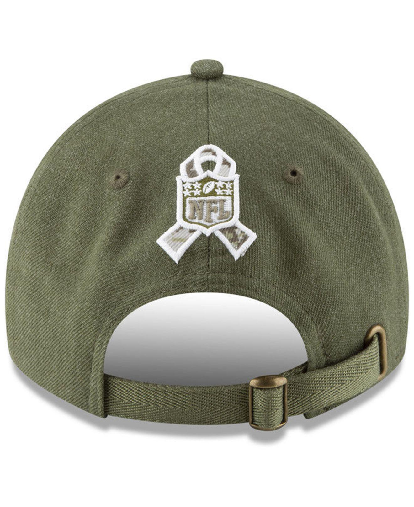 482bcf1bc KTZ New Orleans Saints Salute To Service 9twenty Cap in Green for ...