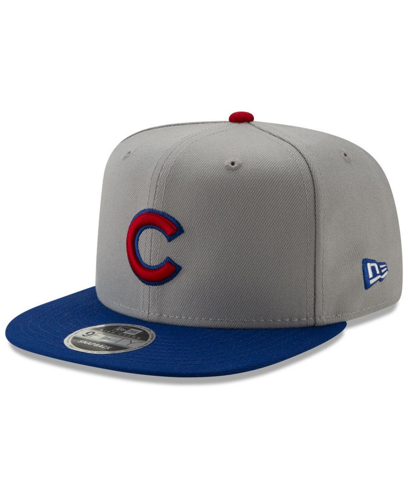 new concept 7a358 5a0d7 KTZ. Men s Gray Chicago Cubs Side Sketch 9fifty Cap