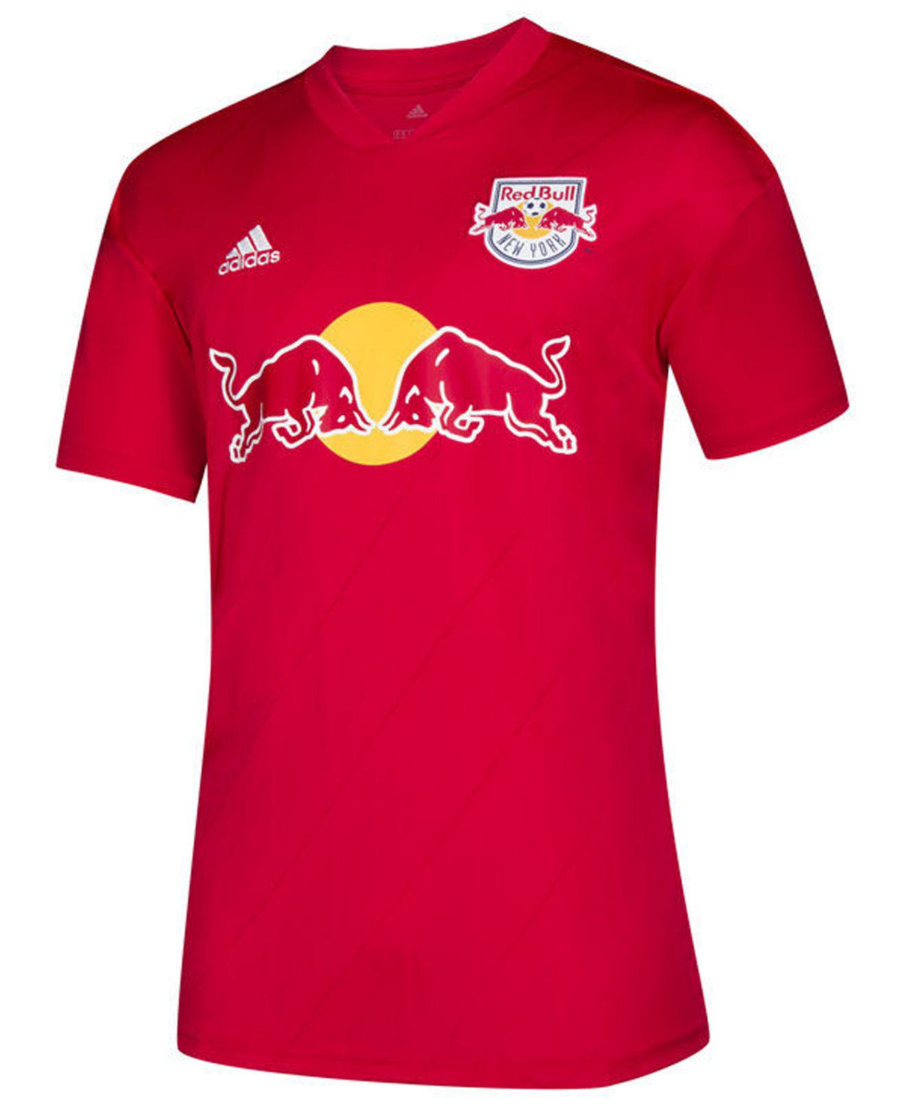 7e8649e4796 Adidas - New York Red Bulls Secondary Replica Jersey for Men - Lyst. View  fullscreen