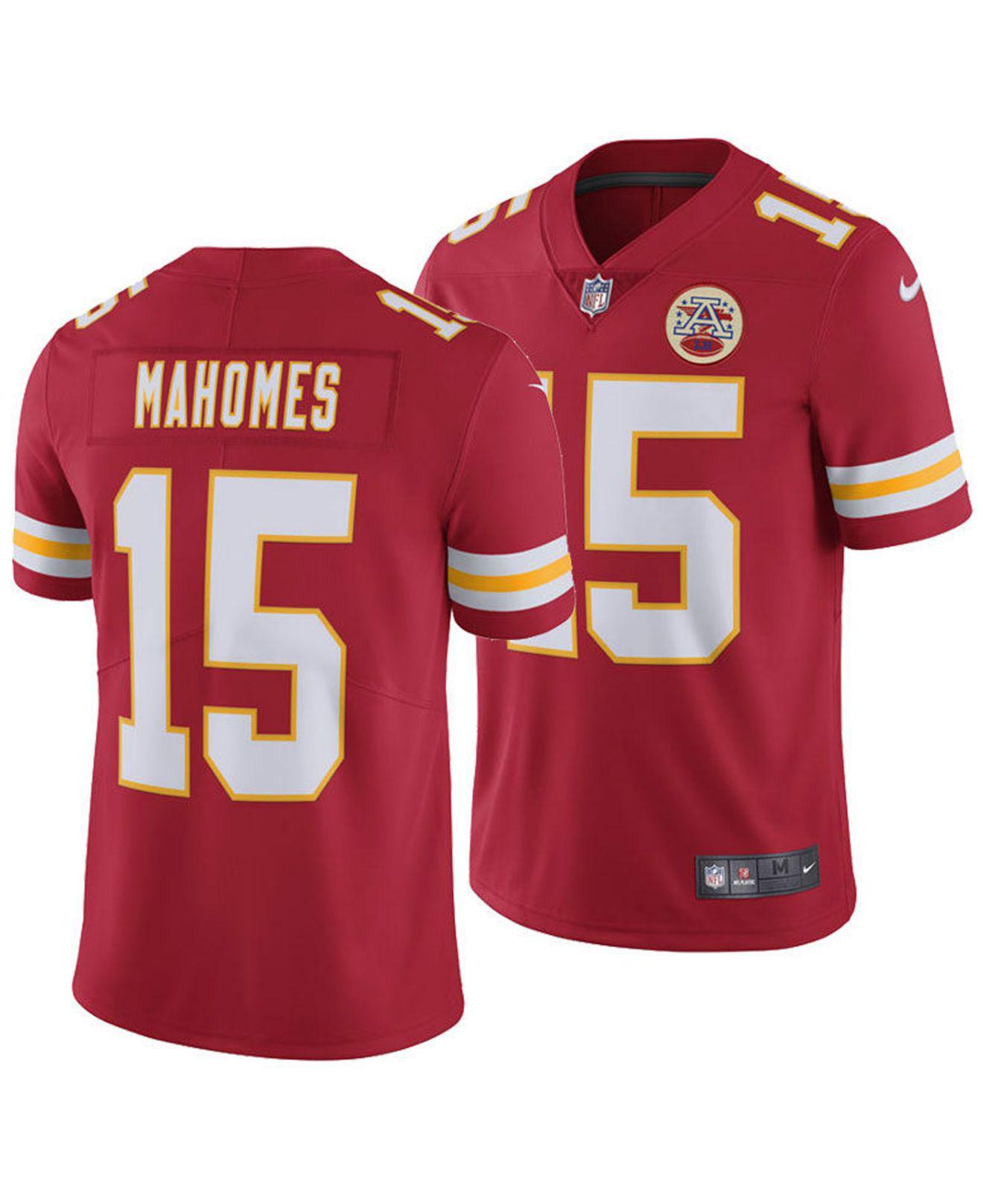 Nike. Men s Red Pat Mahomes Kansas City Chiefs Vapor Untouchable Limited  Jersey c5ff189dd