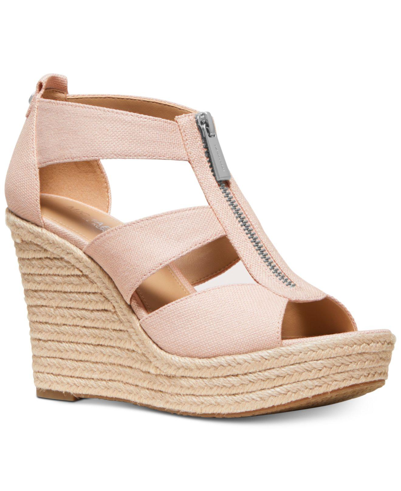 eb6f3a2952d Michael Kors - Pink Michael Damita Platform Wedge Sandals - Lyst. View  fullscreen