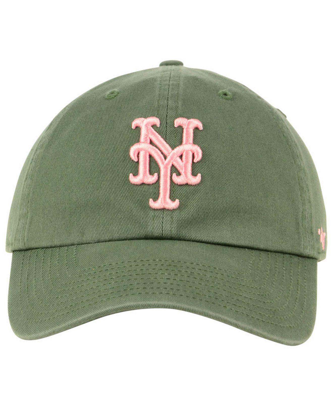 premium selection ebdf9 50f49 ... cheap lyst 47 brand new york mets moss pink clean up cap in green 7a136  fe7a6
