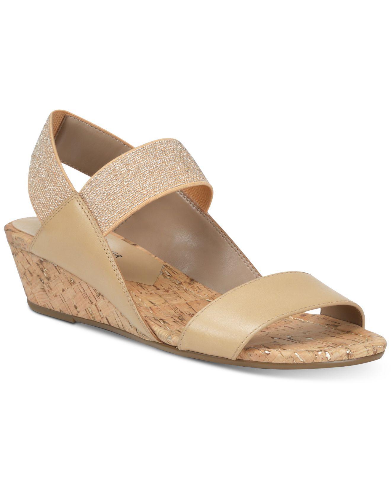 7e643a09d9a0 Lyst - Donald J Pliner Elsie Wedge Sandals in Natural