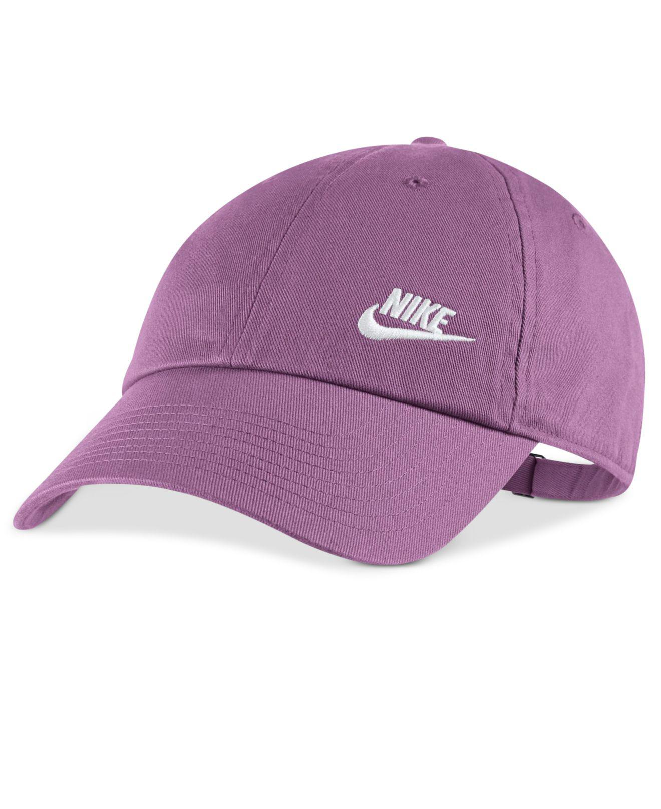 0c0cdcdbee8f8 ... uk lyst nike futura cotton hat in purple 90ff3 d5699