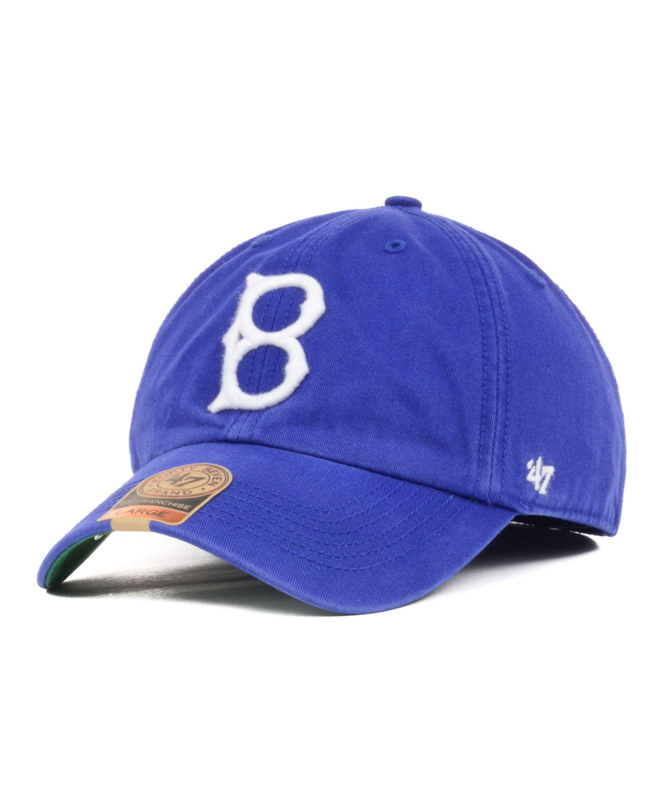 Lyst - 47 Brand Brooklyn Dodgers Franchise Cap in Green for Men bf5a5cd8648d