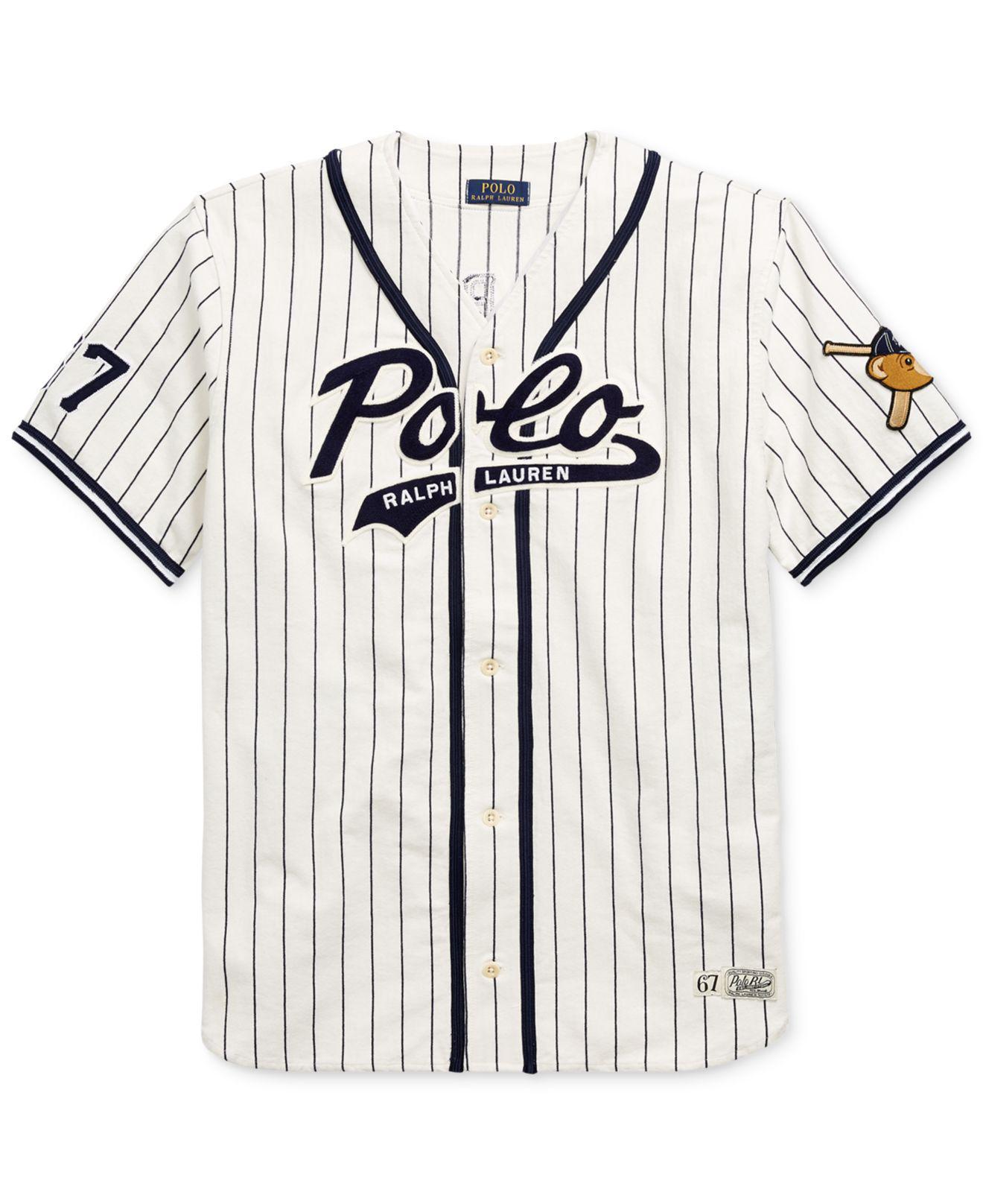 8d07c38f9b7 Polo Ralph Lauren Polo Bear Baseball Jersey in White for Men - Lyst