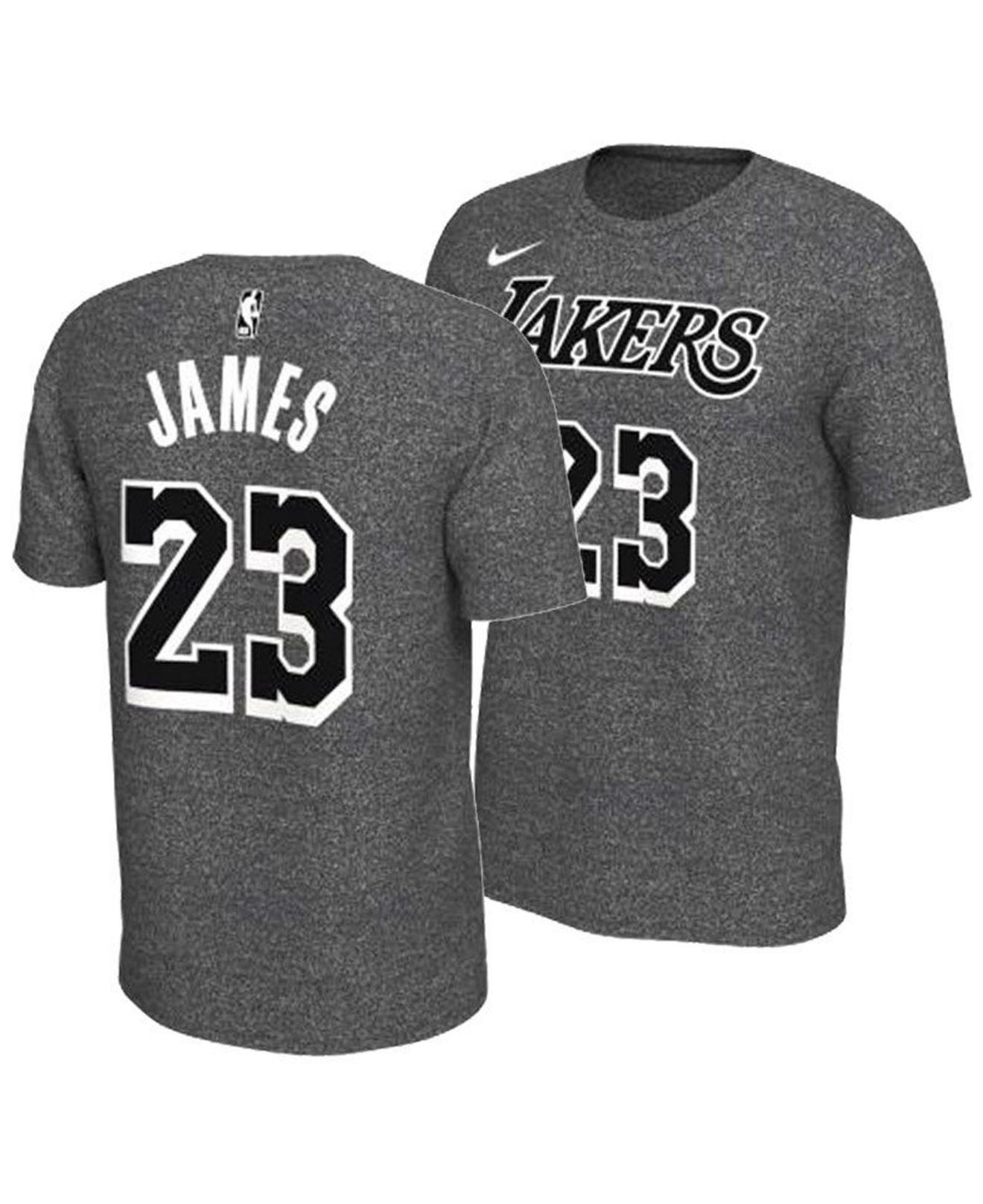 Lyst - Nike Lebron James Los Angeles Lakers Marled Player T-shirt in ... c85042dc6