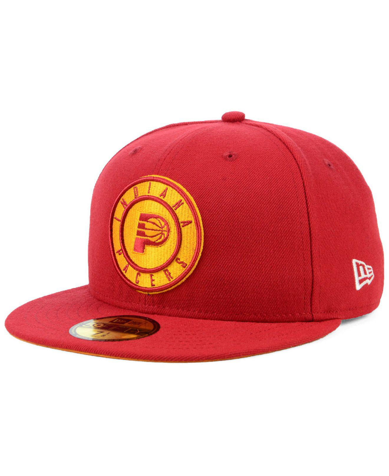 official photos 80d37 b9cea Lyst - KTZ Indiana Pacers Hardwood Classic Nights 59fifty Fitted Cap ...