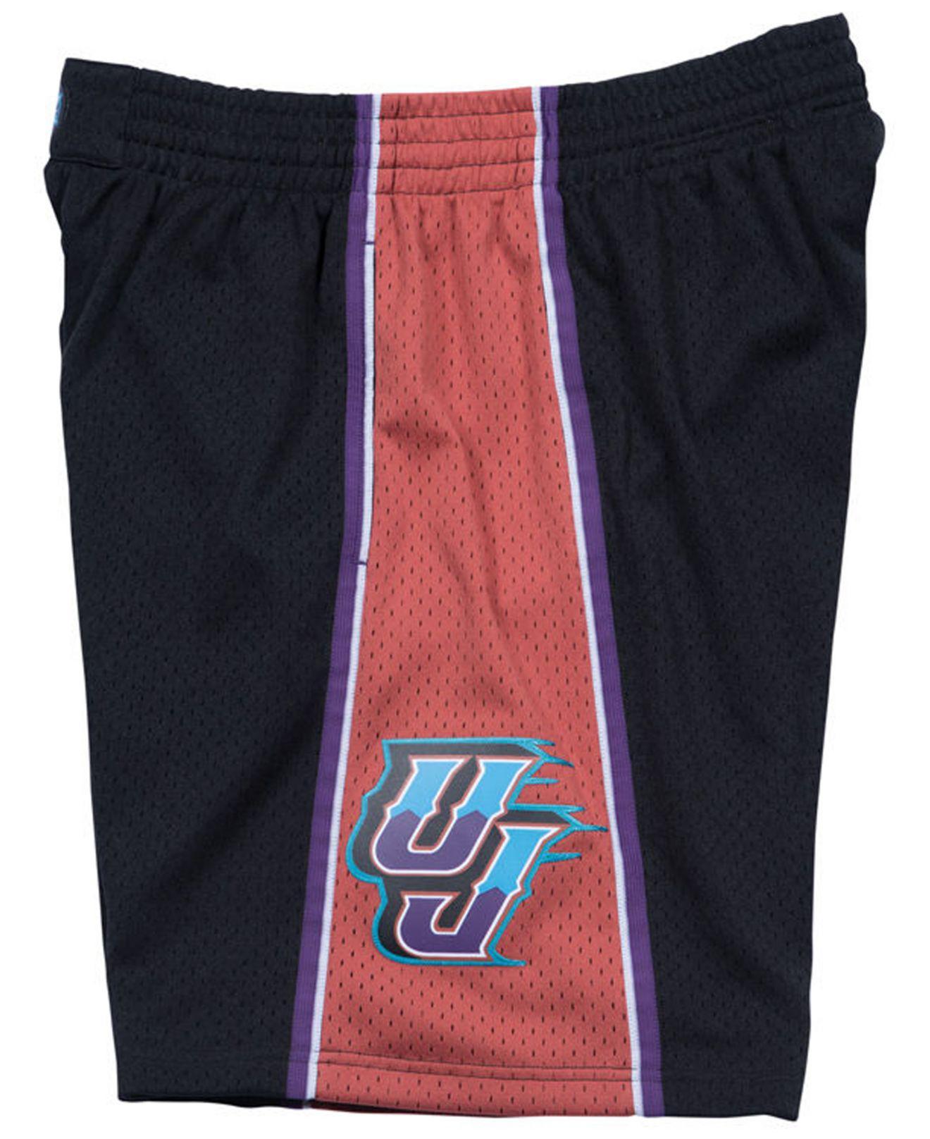 32104f829c8b Lyst - Mitchell   Ness Utah Jazz Authentic Nba Shorts in Black for Men