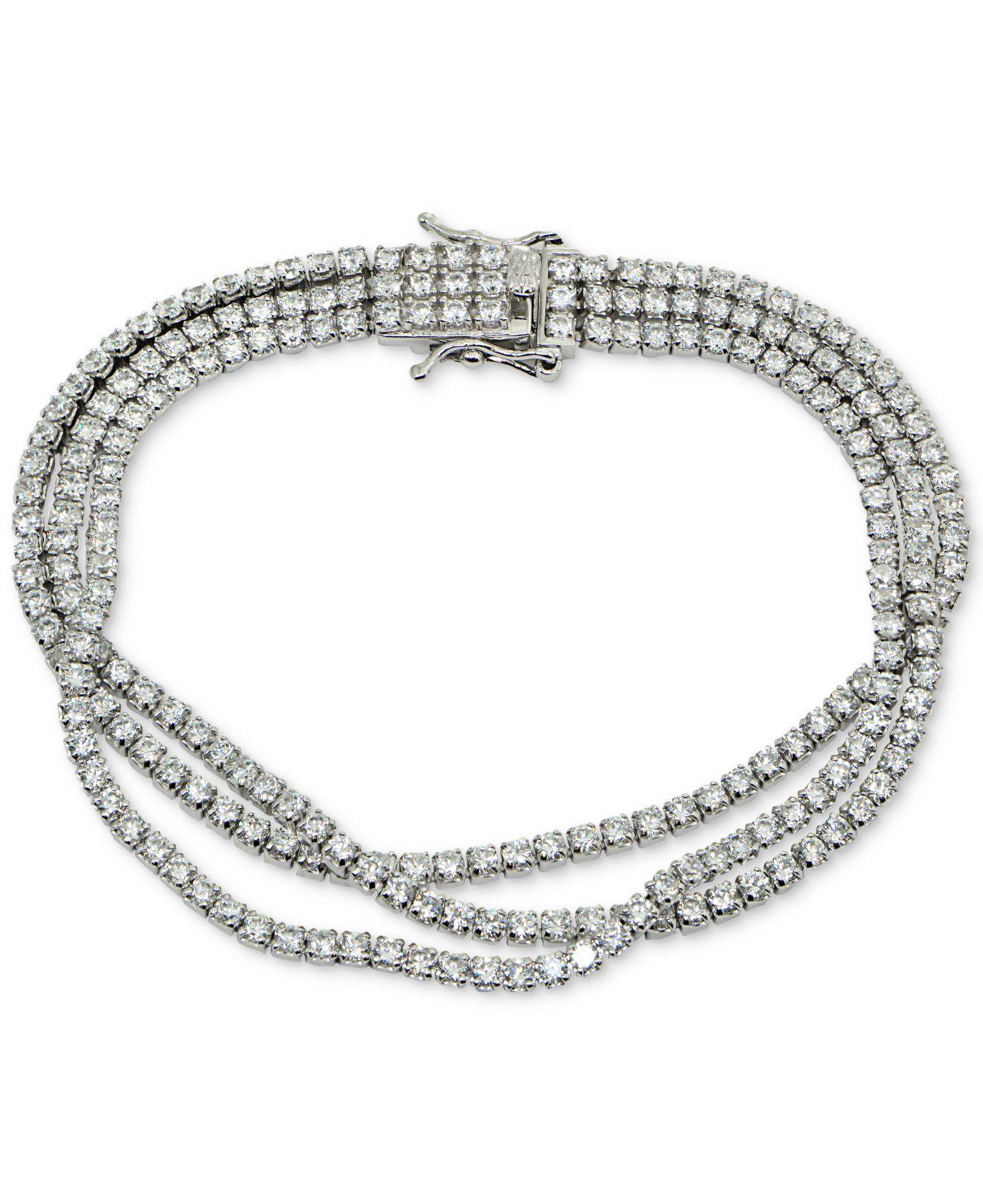 d65d380d4 Lyst - Giani Bernini Cubic Zirconia Triple Row Tennis Bracelet In ...