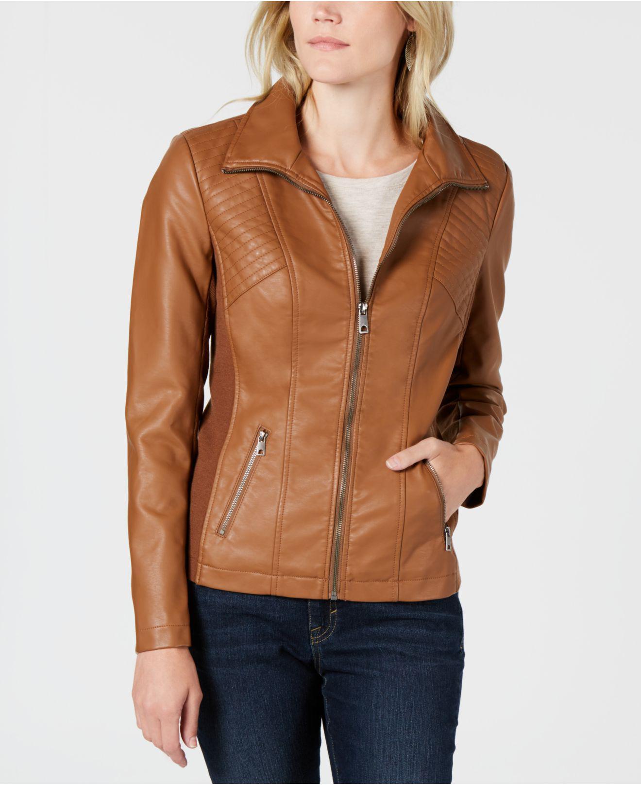 2080b2caff0 Style   Co. Faux-leather Moto Jacket