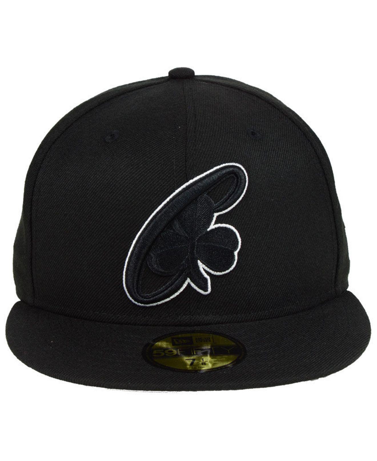 buy online 888c5 a3f35 ... switzerland lyst ktz boston celtics combo logo 59fifty fitted cap in  black for men 95f8d fb443