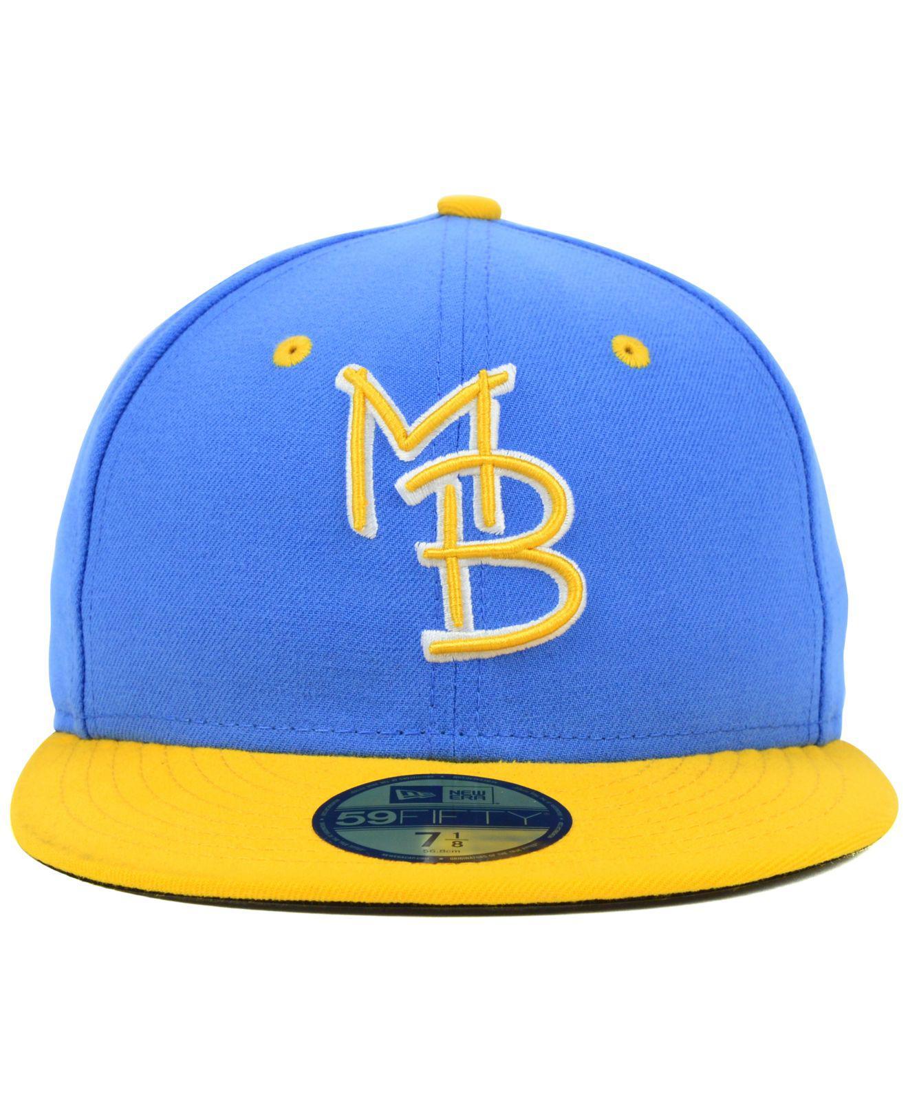 9d213855bbe KTZ - Metallic Myrtle Beach Pelicans 59fifty Cap for Men - Lyst. View  fullscreen