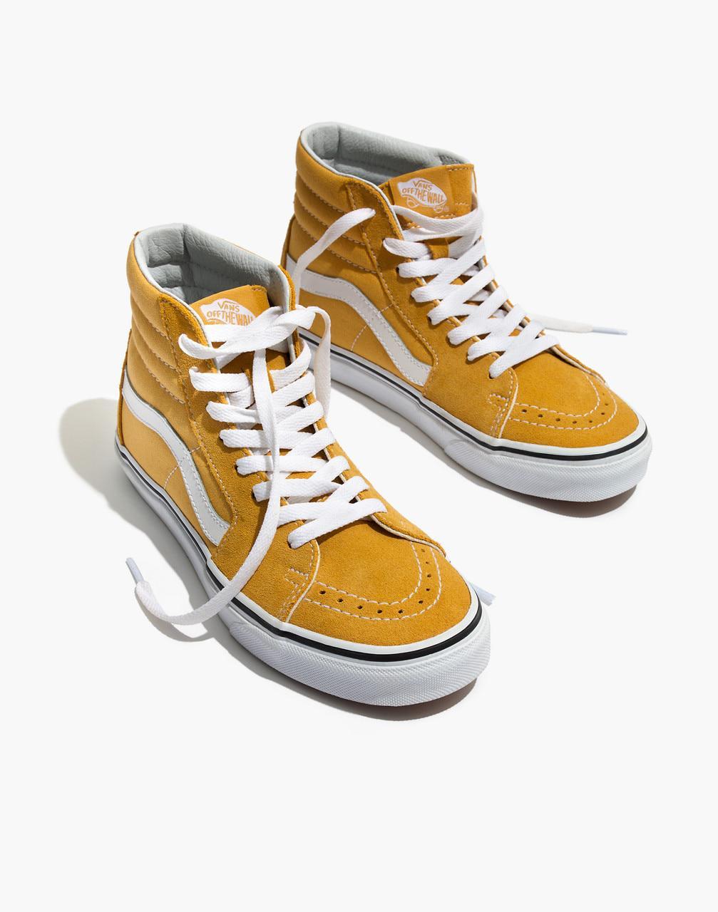 0611f23bfa Lyst - Madewell Vans Unisex Sk8-hi High-top Sneakers In Ochre Suede