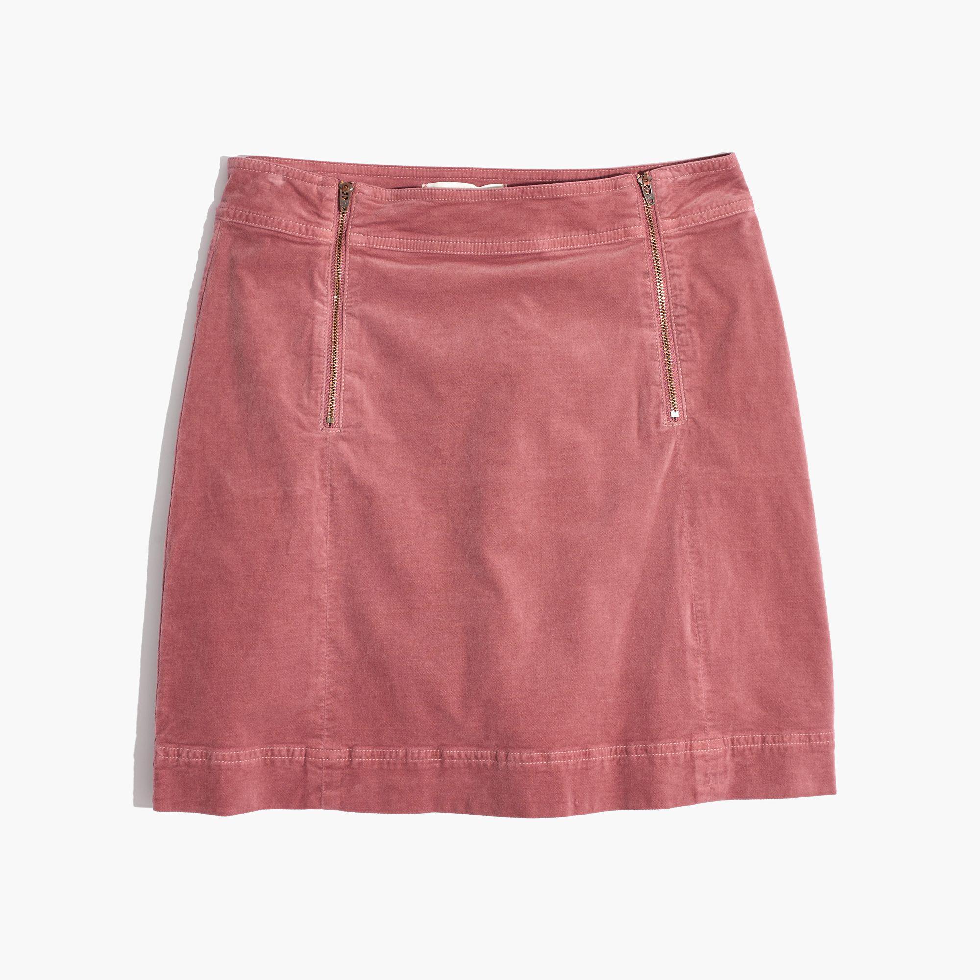 e81f65f411 Madewell Velveteen Uptown Zip Skirt - Lyst