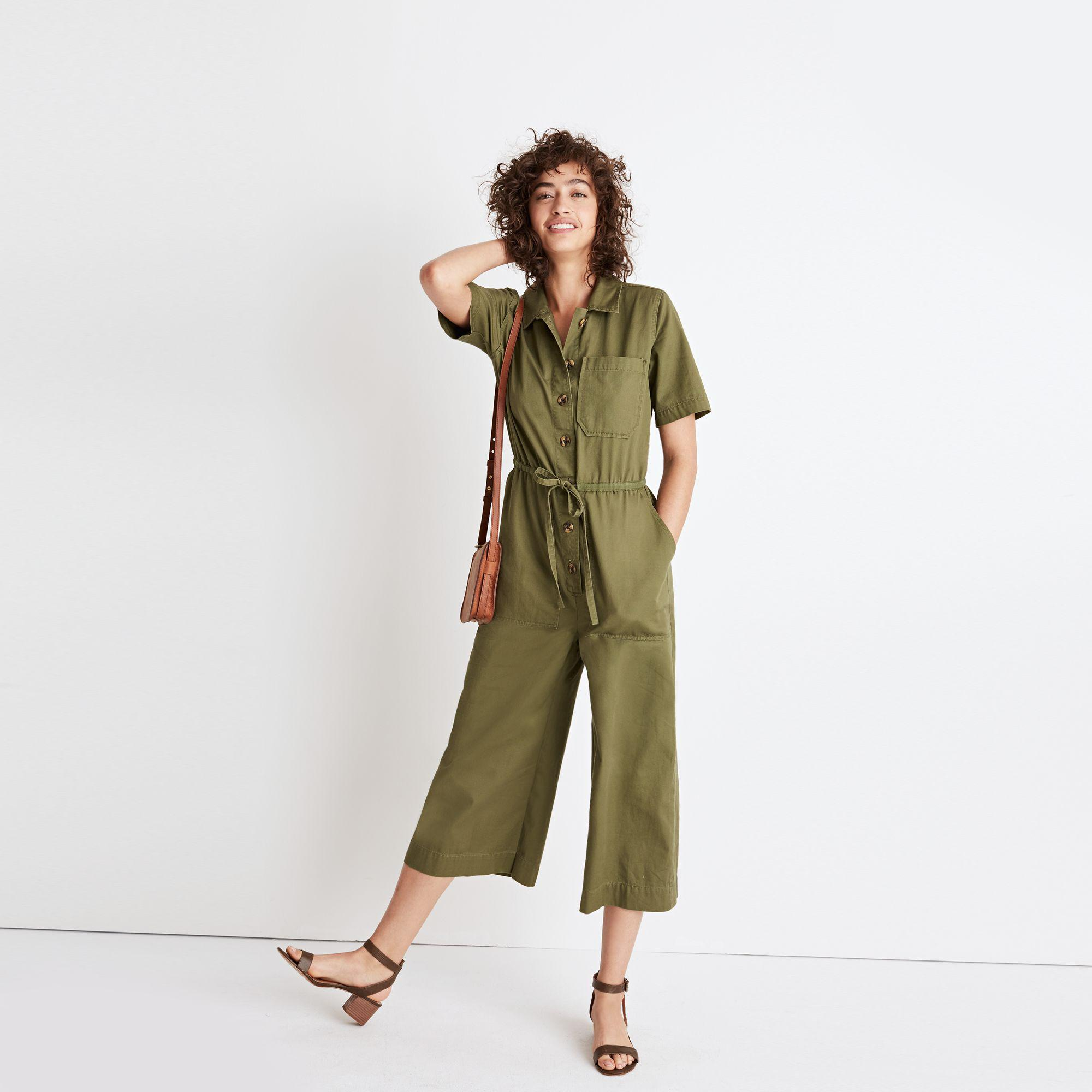 2b86ba6abe18 Lyst - Madewell Wide-leg Utility Jumpsuit in Green