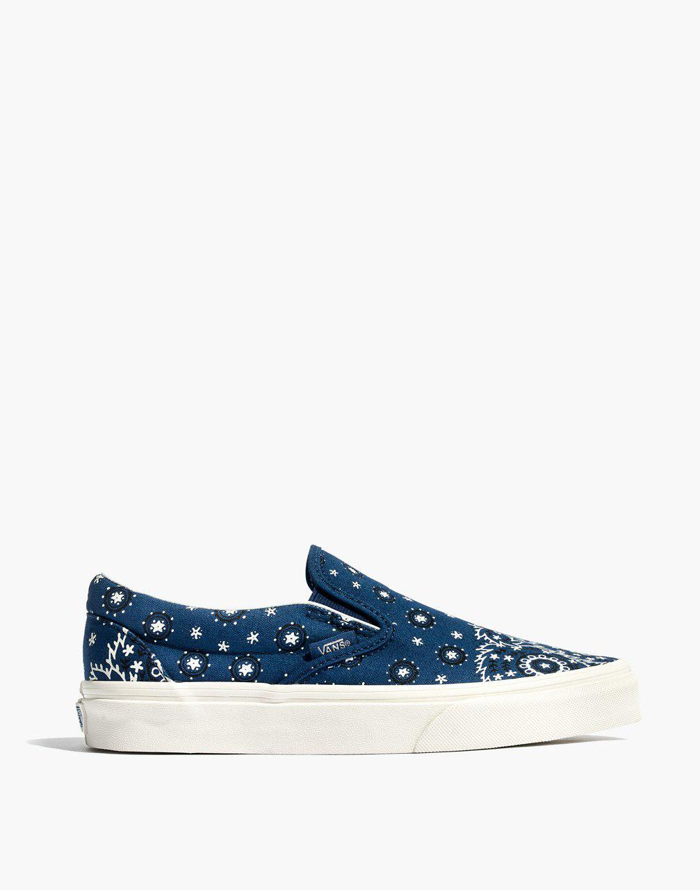 52aa51a157 Lyst - Madewell X Vans Unisex Classic Slip-on Sneakers In Bandana ...