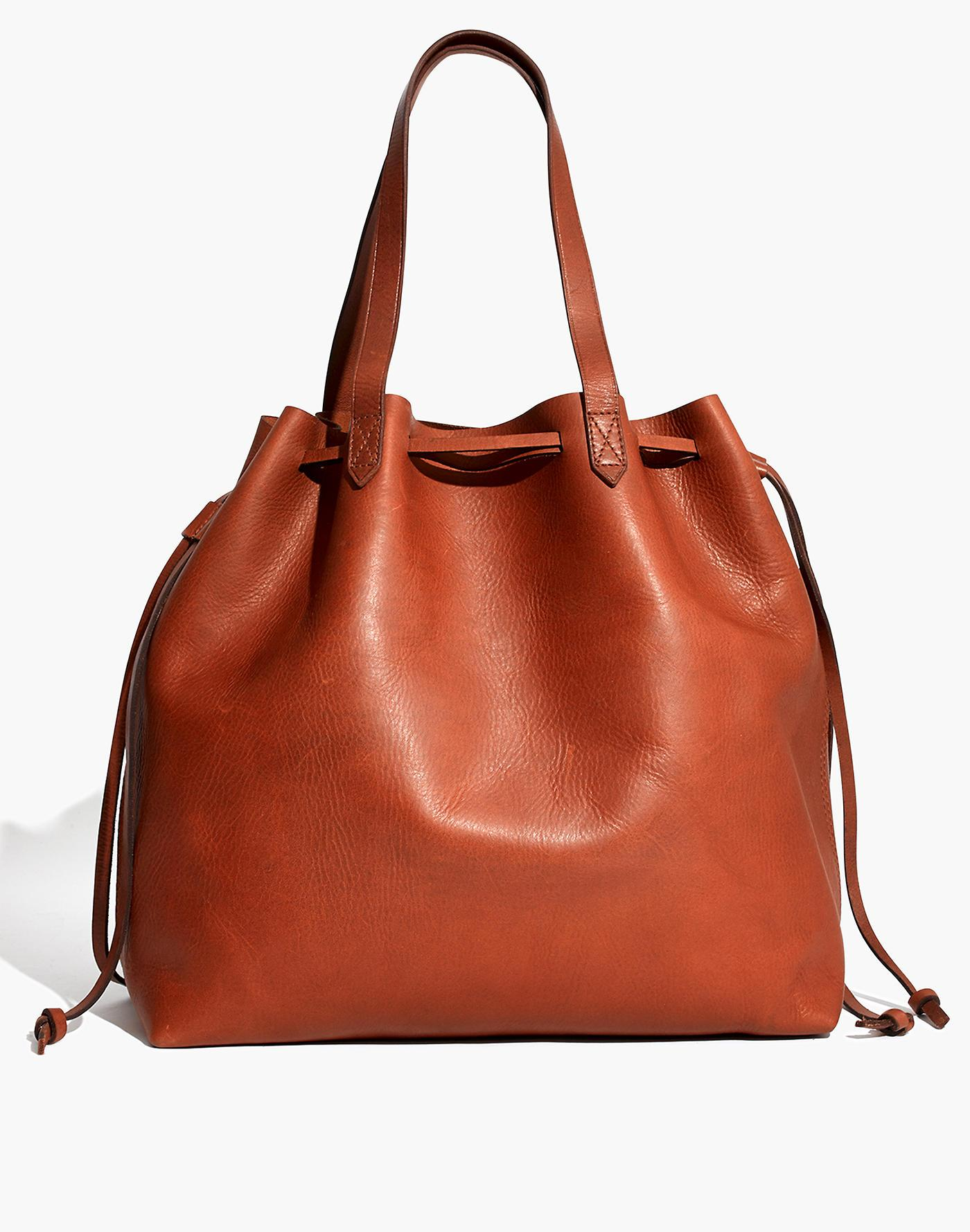 bd52b4e6b Madewell The Drawstring Transport Tote in Brown - Lyst