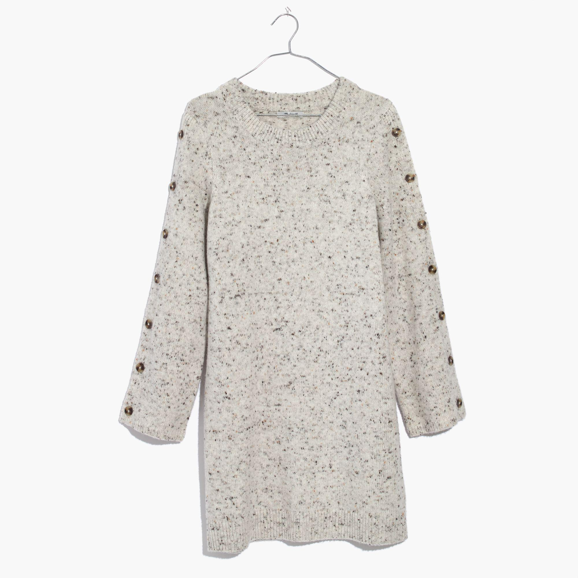 2234fbbcd69 Madewell Donegal Button-sleeve Sweater-dress - Lyst