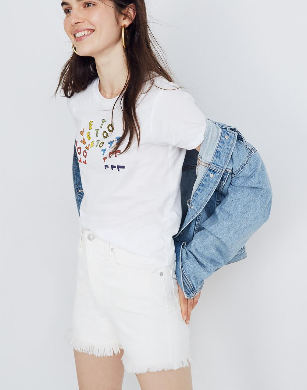 8181704d9d Lyst - Madewell X Human Rights Campaign Love To All Pride Tee in White