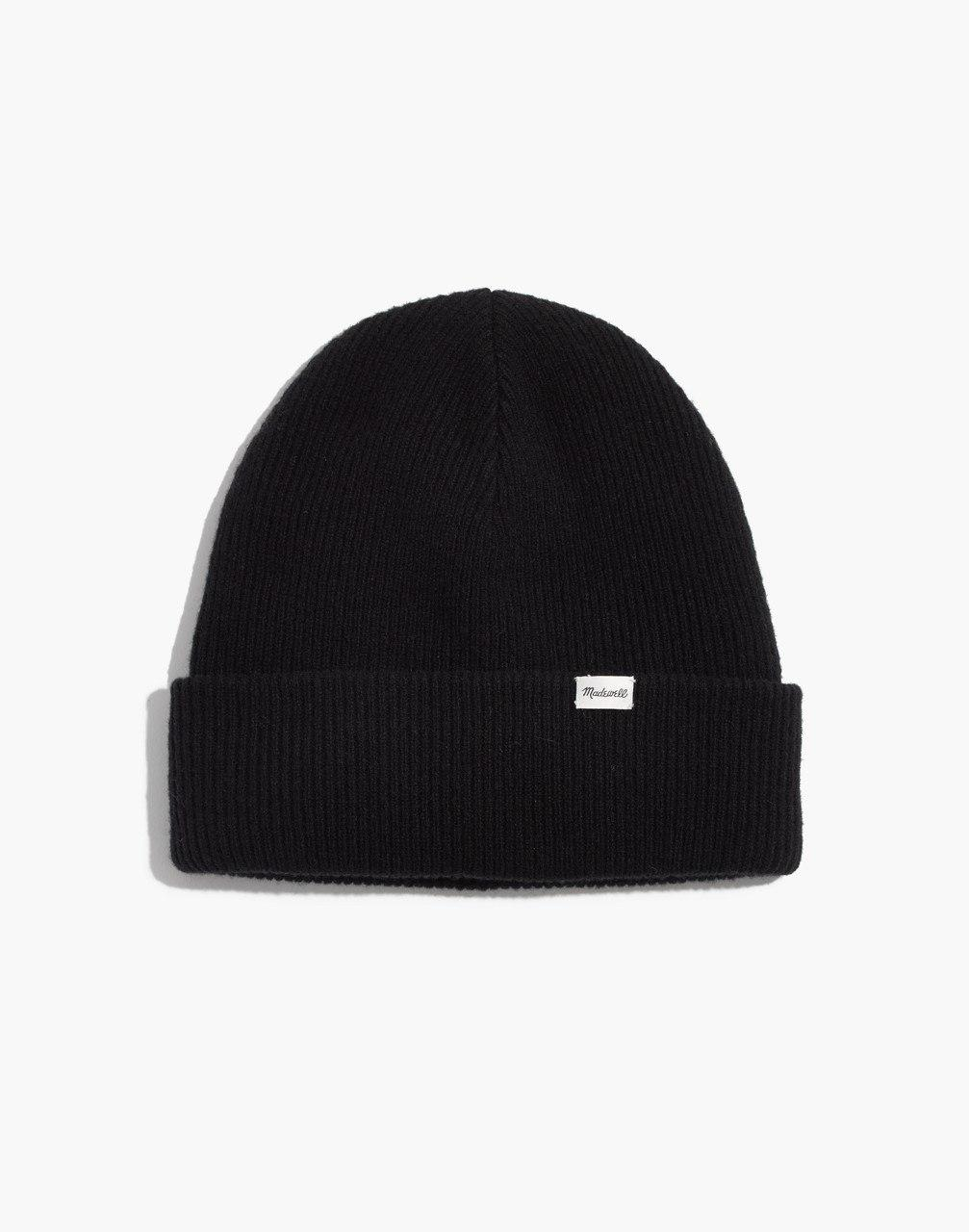 Lyst - Madewell Cuffed Cozy-knit Beanie in Black d9a51f8e1bc1