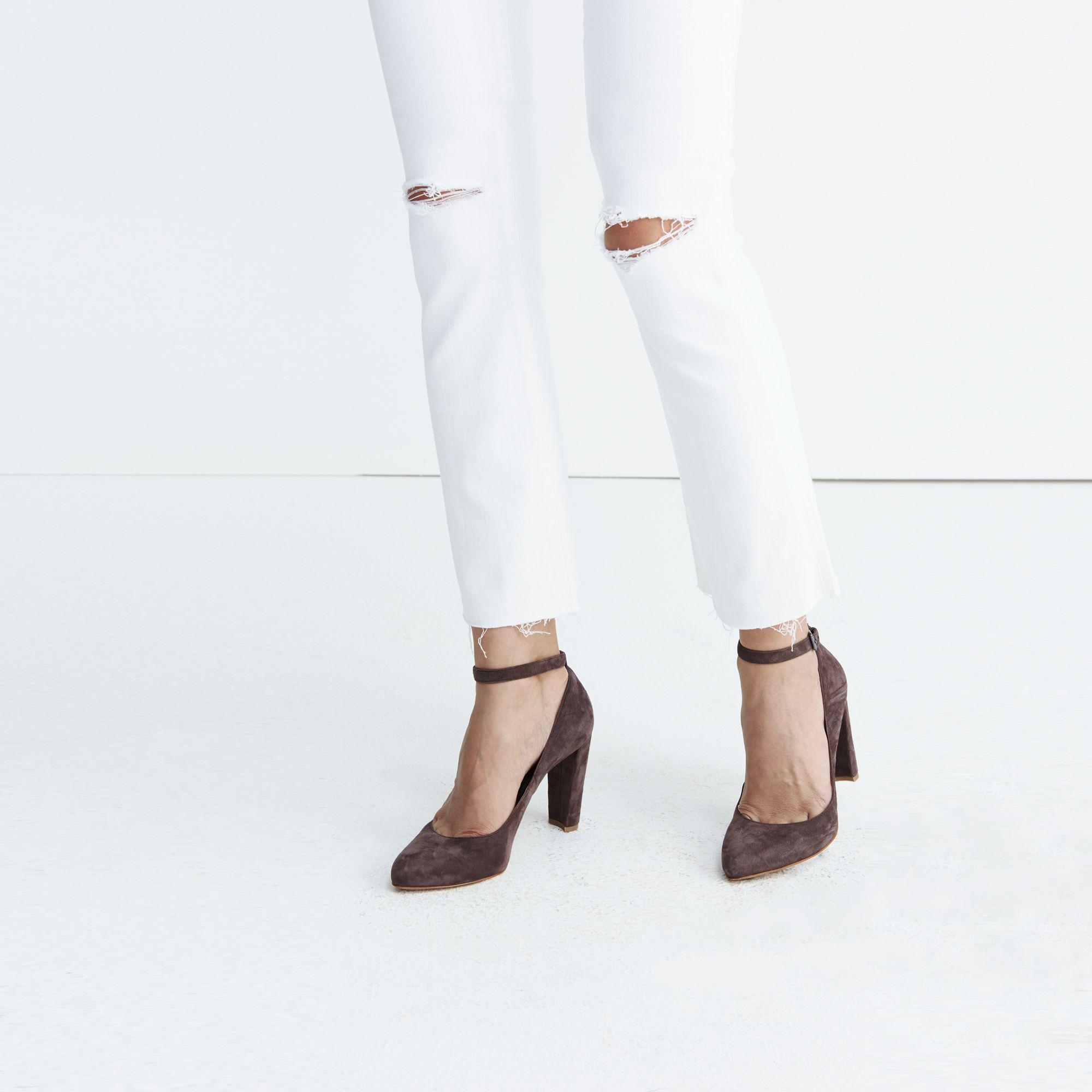 Madewell Tall Cali Demi-boot Jeans In Pure White: Distressed ...