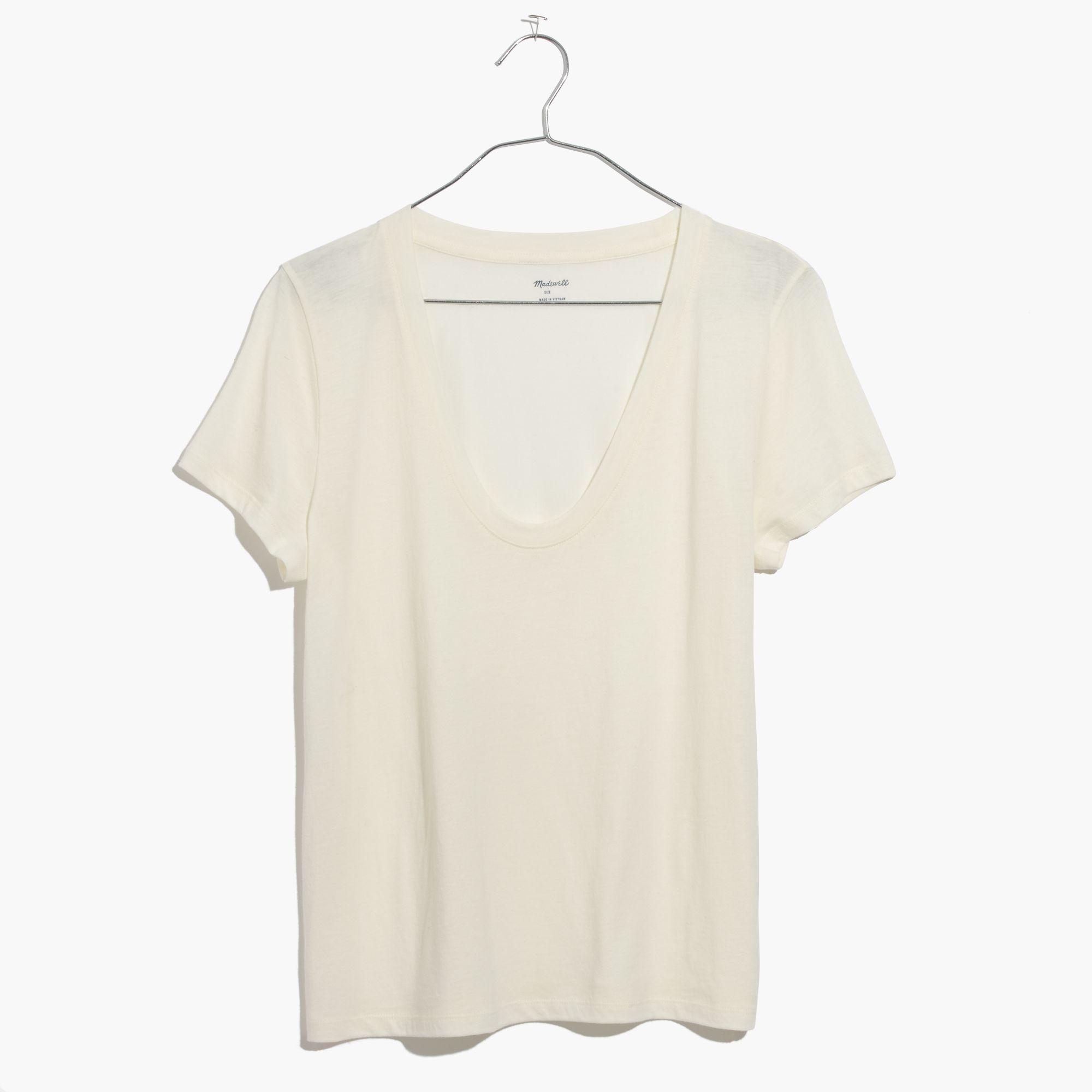 eae1f1db67250 Lyst - Madewell Alto Scoop Tee in White