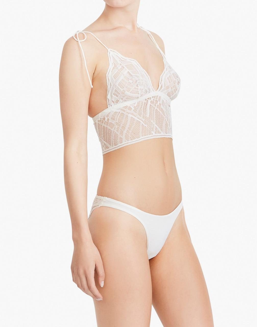 55a12cbdab8ed Madewell The Great Eros Lace Sonata Longline Bralette in White - Lyst