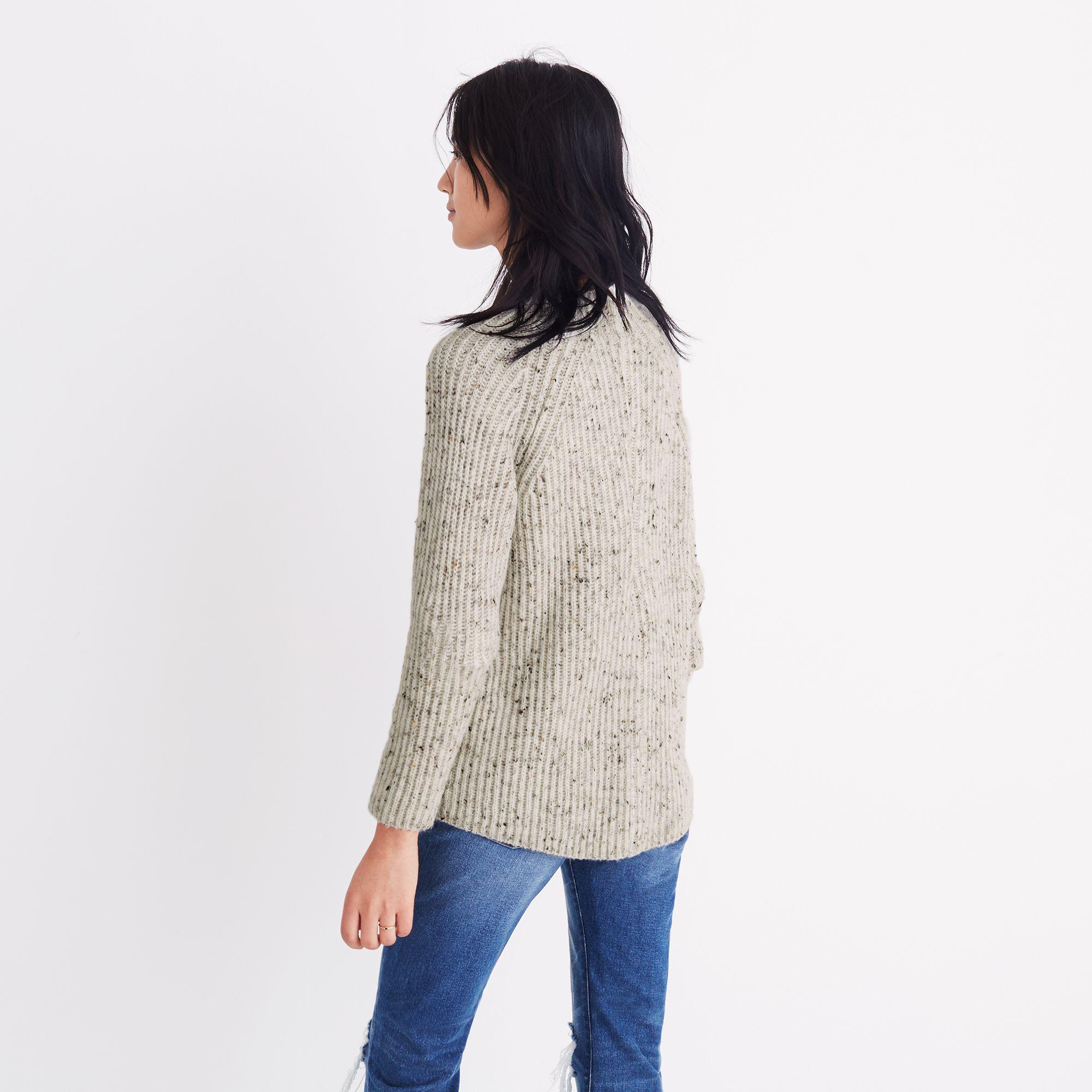 ffe41fbf4ba Madewell Donegal Northfield Mockneck Sweater - Lyst