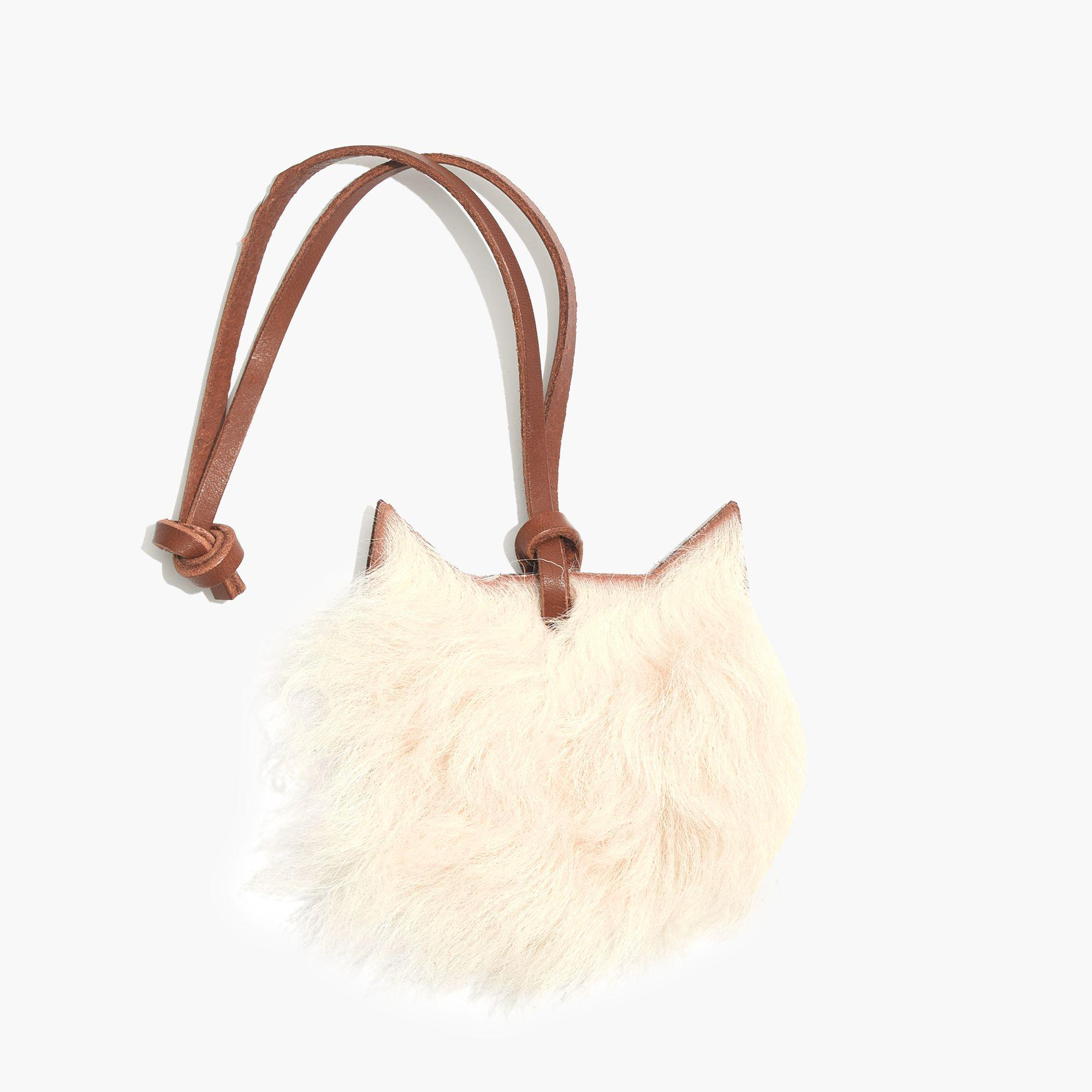 57f28d6c6b Lyst - Madewell Shearling Cat Bag Tag in Natural