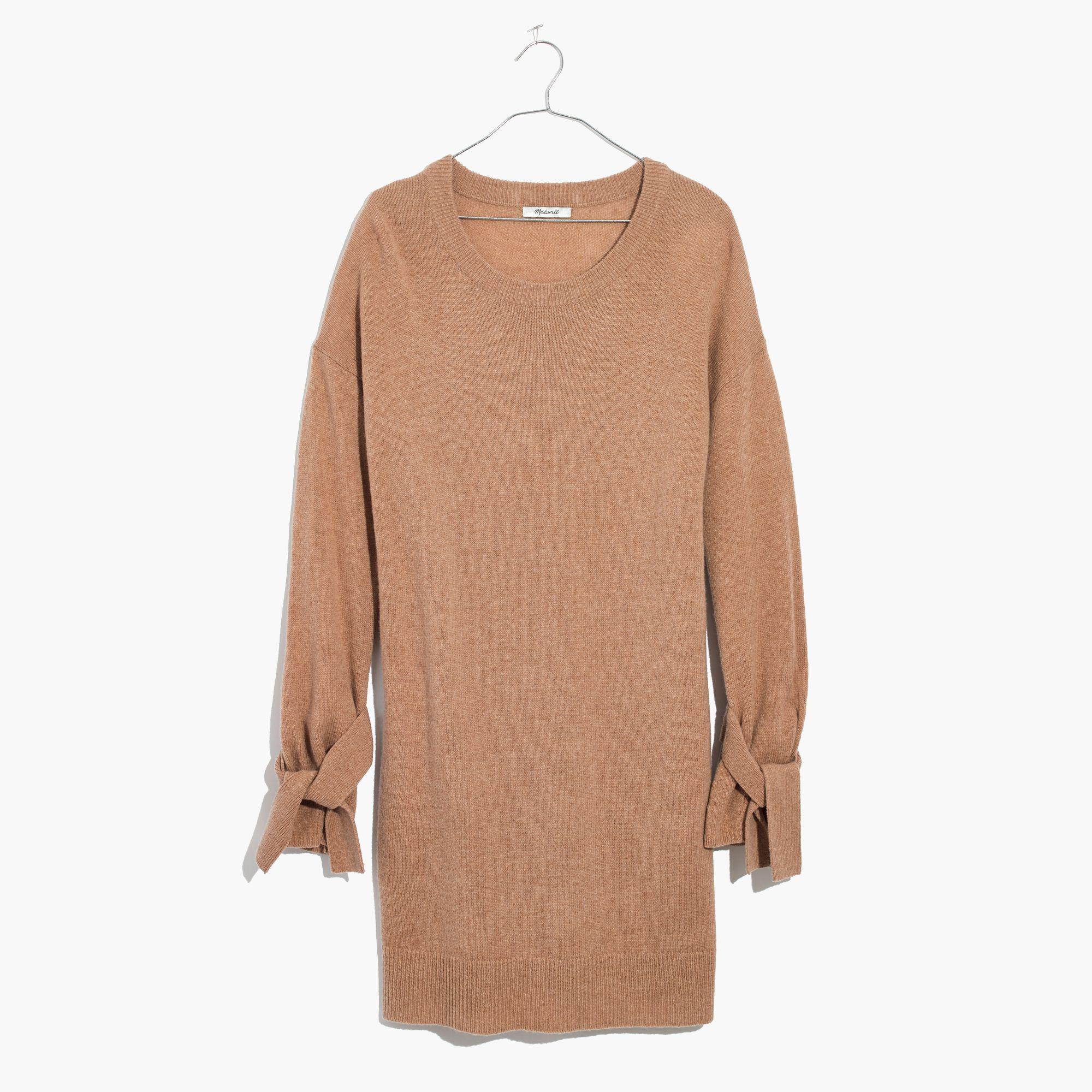 069c8d2f1b Madewell Tie-cuff Sweater-dress in Natural - Lyst