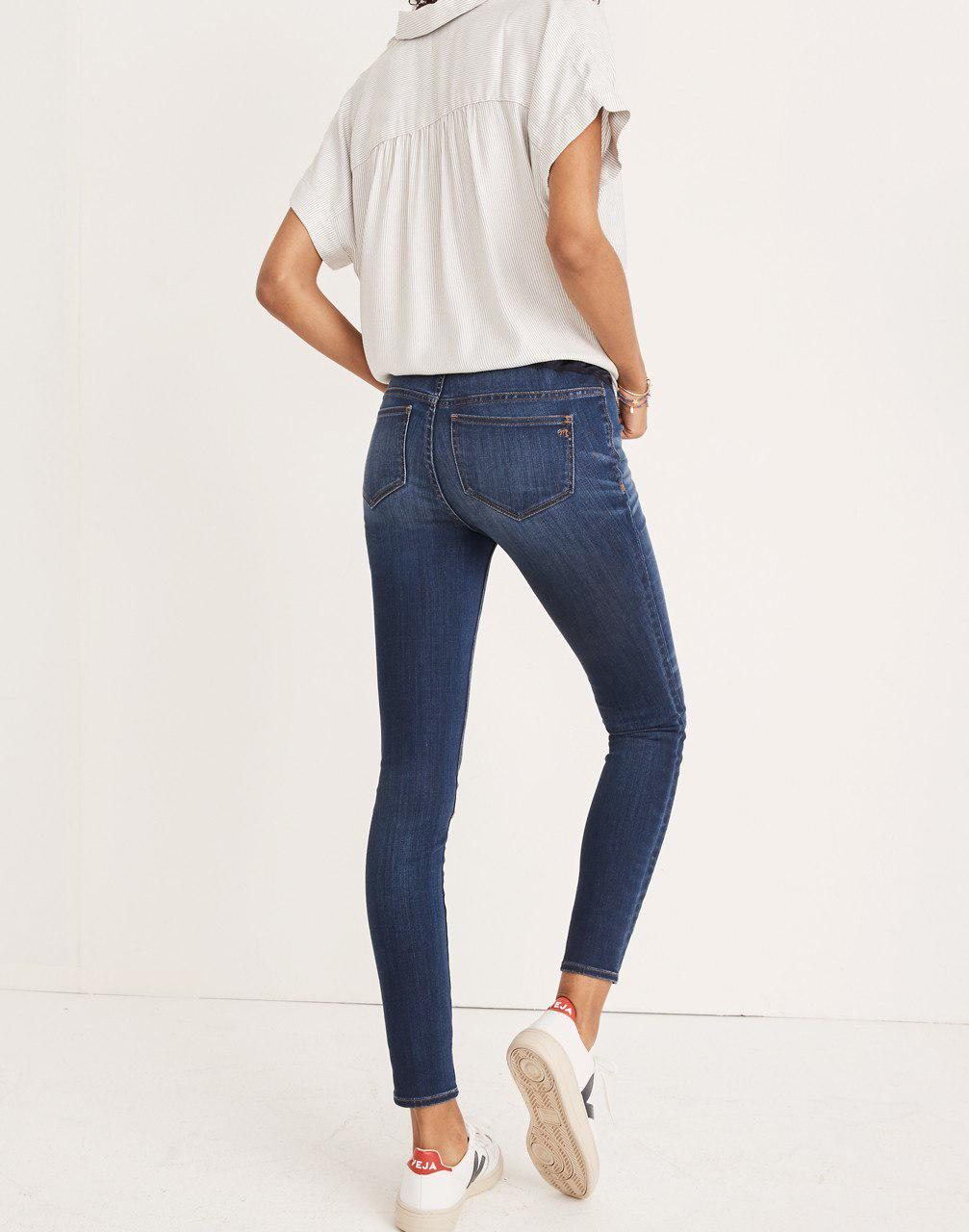 851cd5b7b786d Lyst - Madewell Maternity Over-the-belly Skinny Jeans In Danny Wash ...