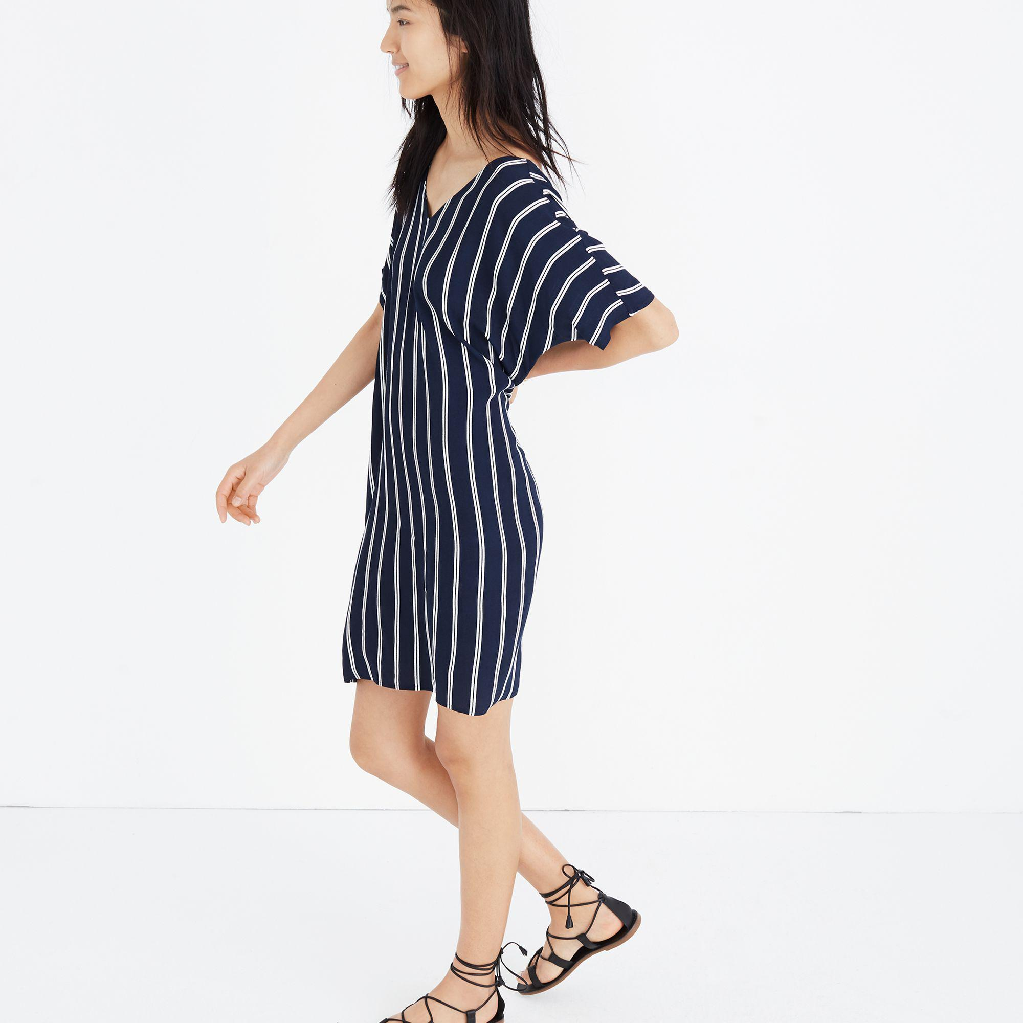 9d8820a79 Madewell Striped Plaza Dress in Blue - Lyst