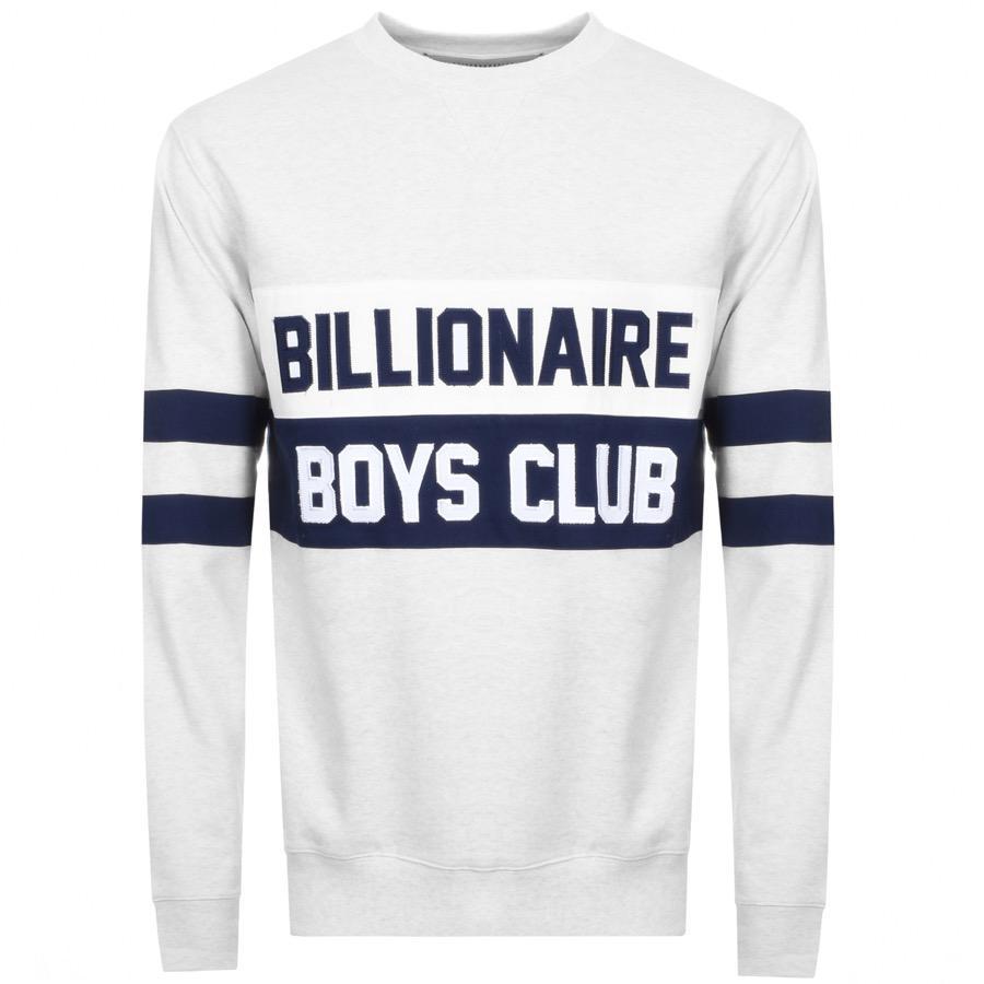 82a75d1a6a3 BBCICECREAM. Men s Billionaire Boys Club Cut And Sew Sweatshirt White