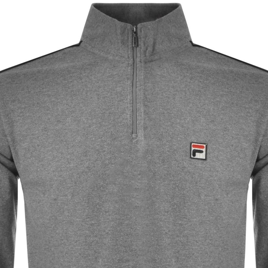 cfe97c2a0ded Lyst - Fila Vintage Parrini Half Zip Track Top Grey in Gray for Men