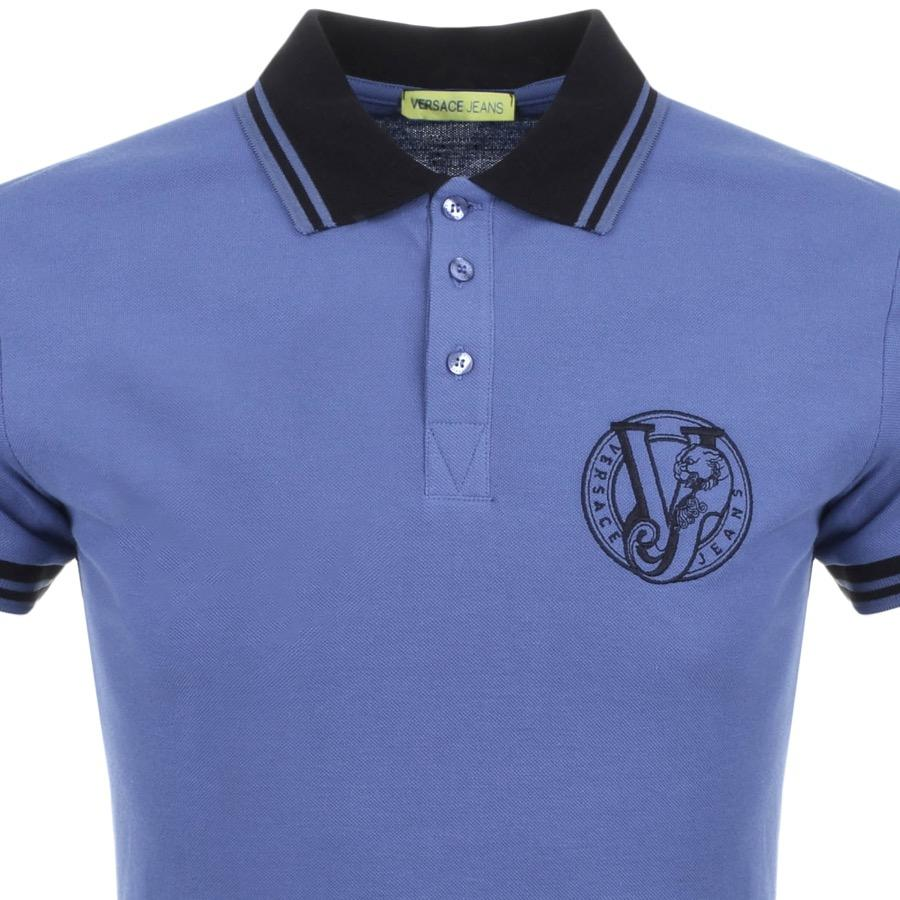 123e70a8475389 Versace Jeans Jeans Short Sleeved Polo T Shirt Navy in Blue for Men ...