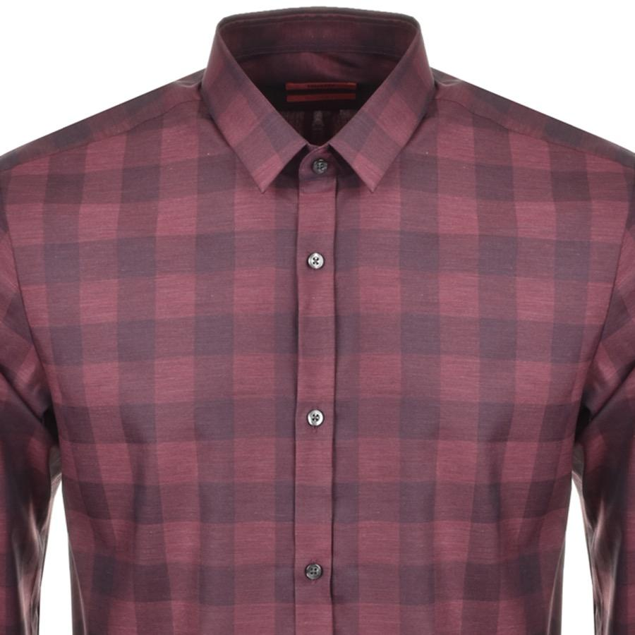 751c7139b Lyst - HUGO By Boss Ero 3 Shirt Red in Red for Men