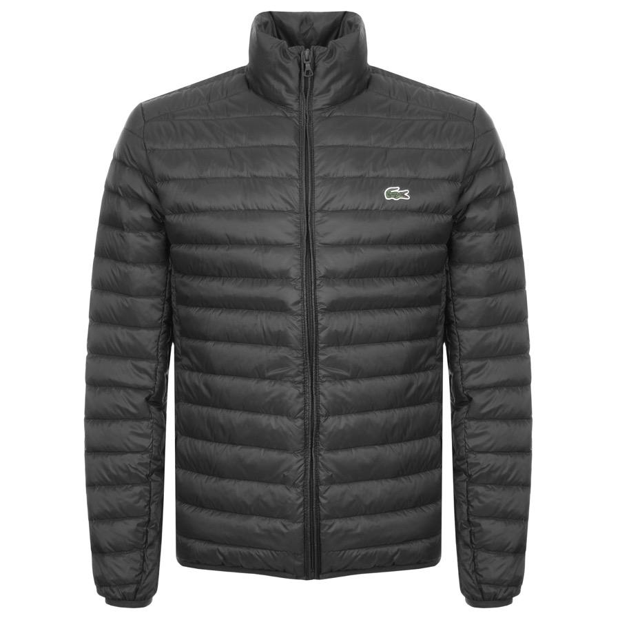 019256ffdcd8 Lacoste Full Zip Padded Jacket Black in Black for Men - Save 62% - Lyst