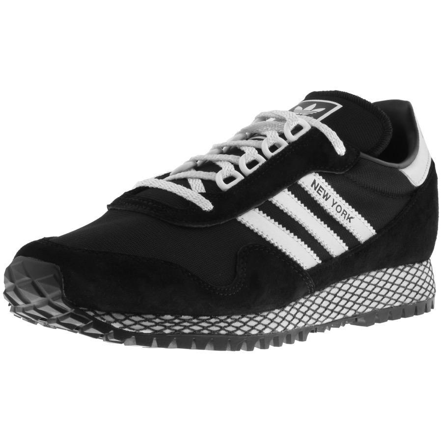 1436b8d10d9b8 adidas Originals New York Trainers Black in Black for Men - Lyst