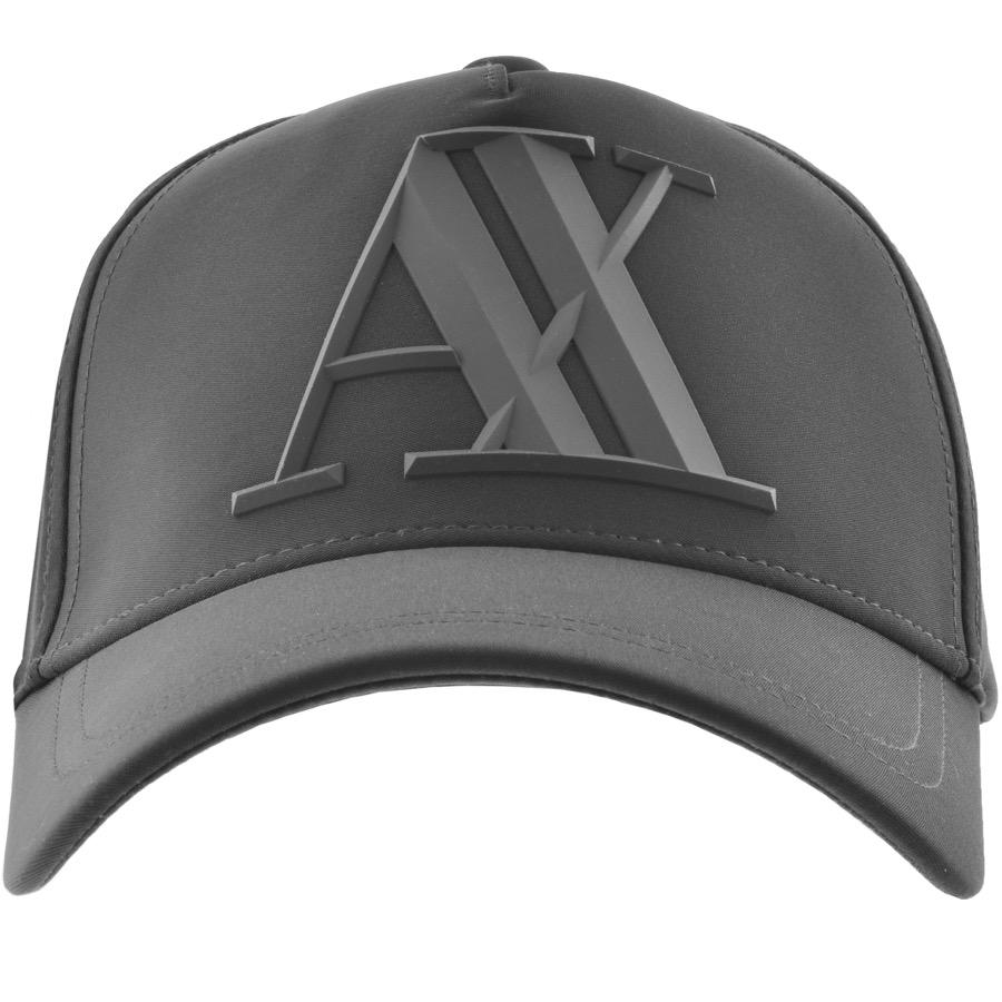 Lyst - Armani Exchange Logo Cap Grey in Gray for Men 66a914d43f88
