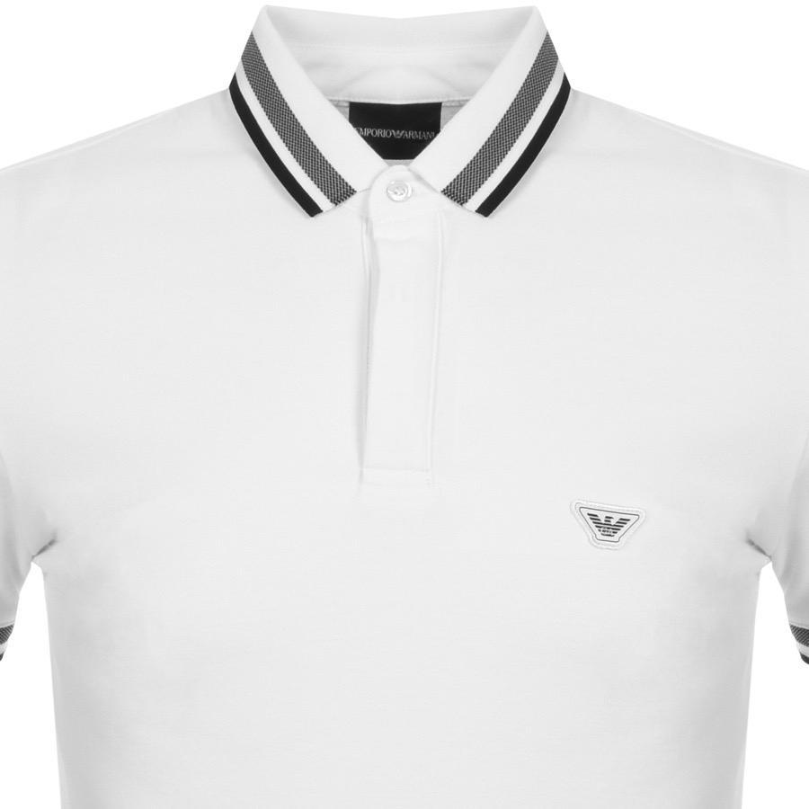 4bbada0e Armani Emporio Short Sleeved Polo T Shirt White in White for Men - Lyst