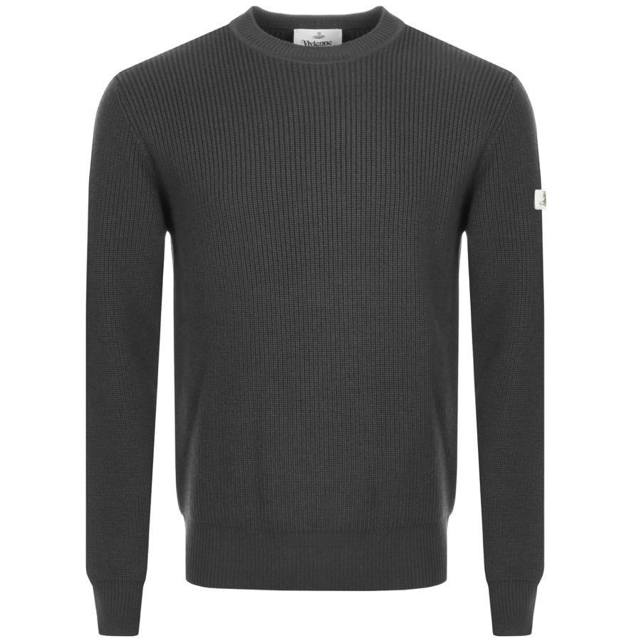 18321eb3ba4d1 Vivienne Westwood Crew Neck Knit Jumper Grey in Gray for Men - Lyst