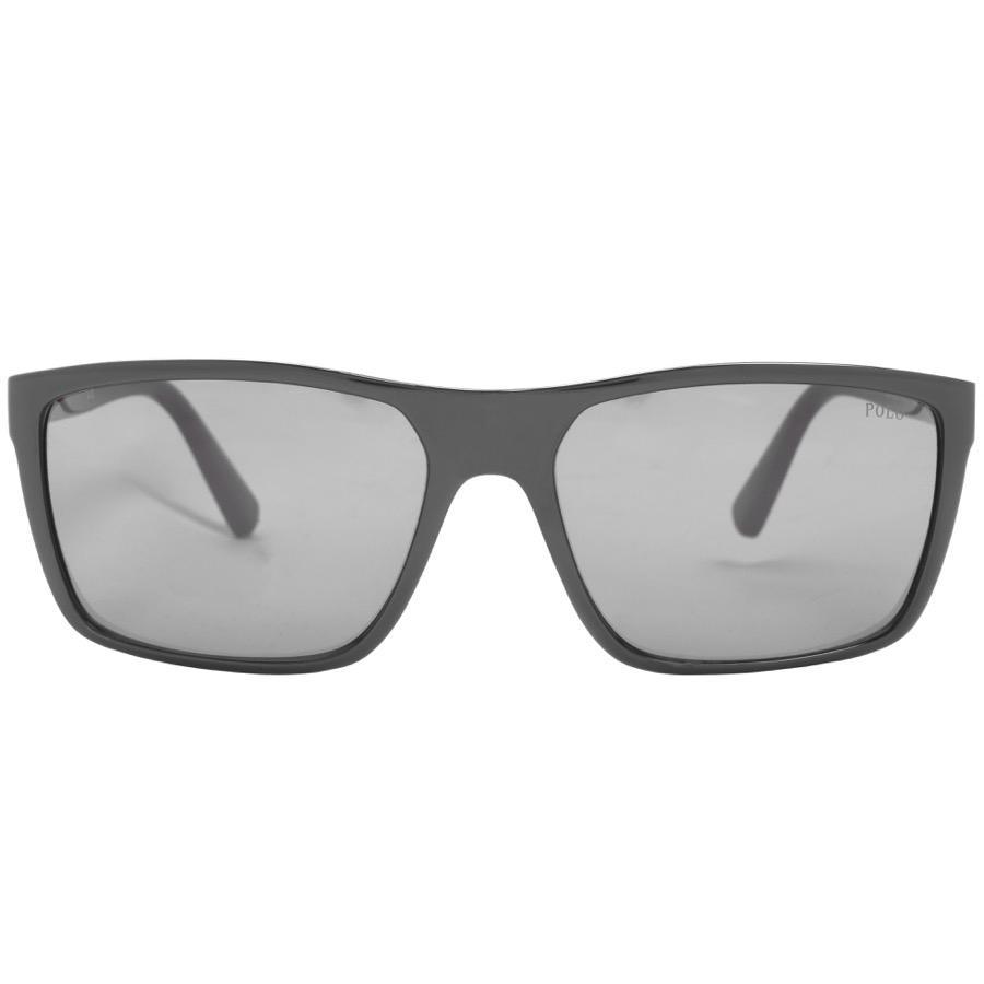 38a21d7fa8 Ralph Lauren - Polo Player Sunglasses Black for Men - Lyst. View fullscreen