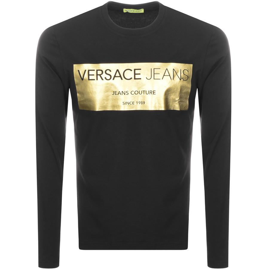 f769b9e9d Versace Jeans Crew Neck Logo T Shirt Black in Black for Men - Lyst